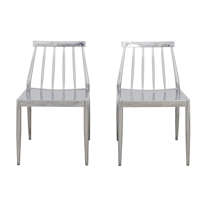 CB2 CB2 Hemstad Chrome Chairs Dining Chairs