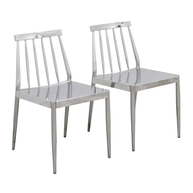 shop CB2 Hemstad Chrome Chairs CB2 Chairs