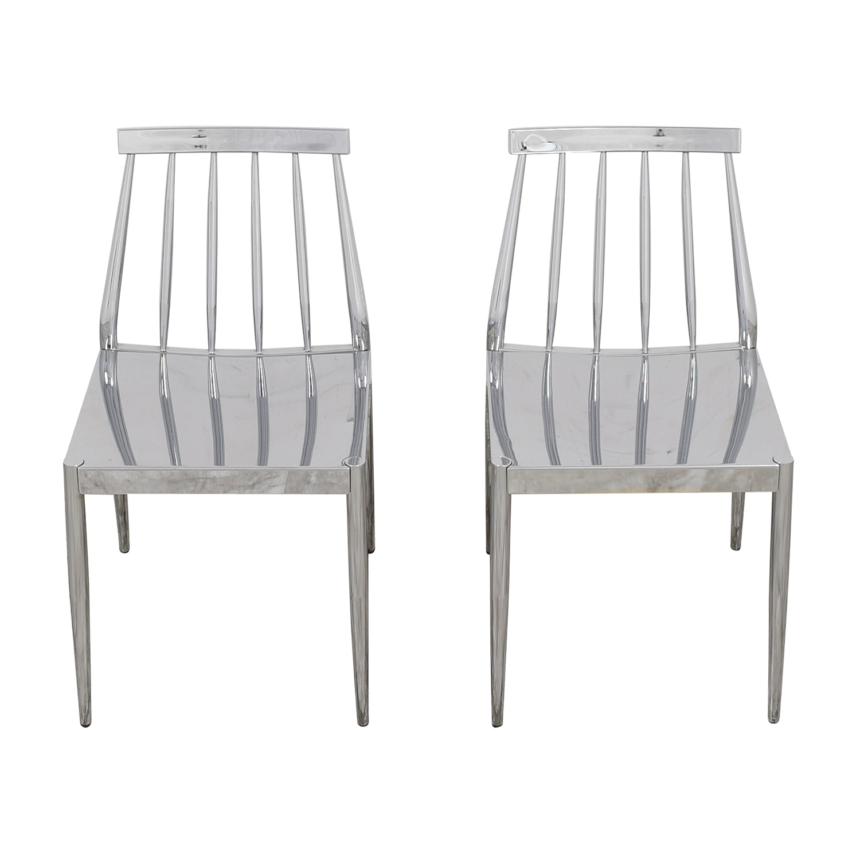 CB2 CB2 Hemstad Chrome Chairs price