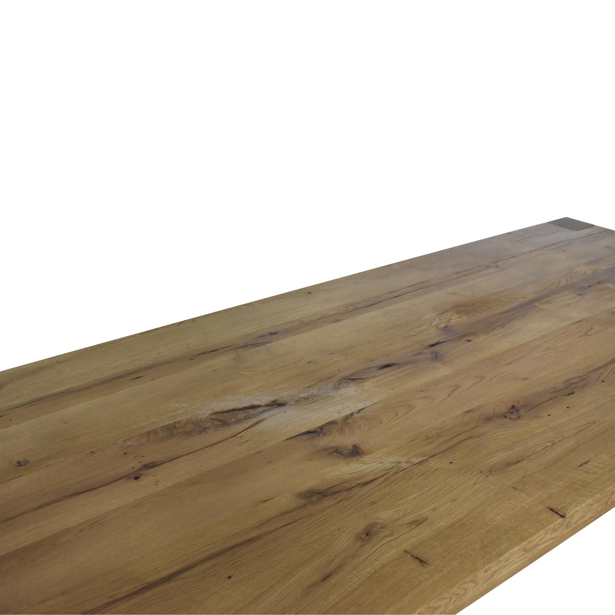 buy Restoration Hardware Reclaimed Russian Oak Parsons Rectangular Dining Table Restoration Hardware Dinner Tables