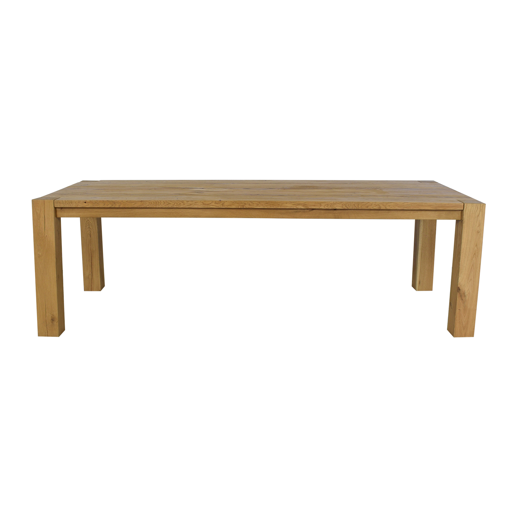 Restoration Hardware Restoration Hardware Reclaimed Russian Oak Parsons Rectangular Dining Table dimensions