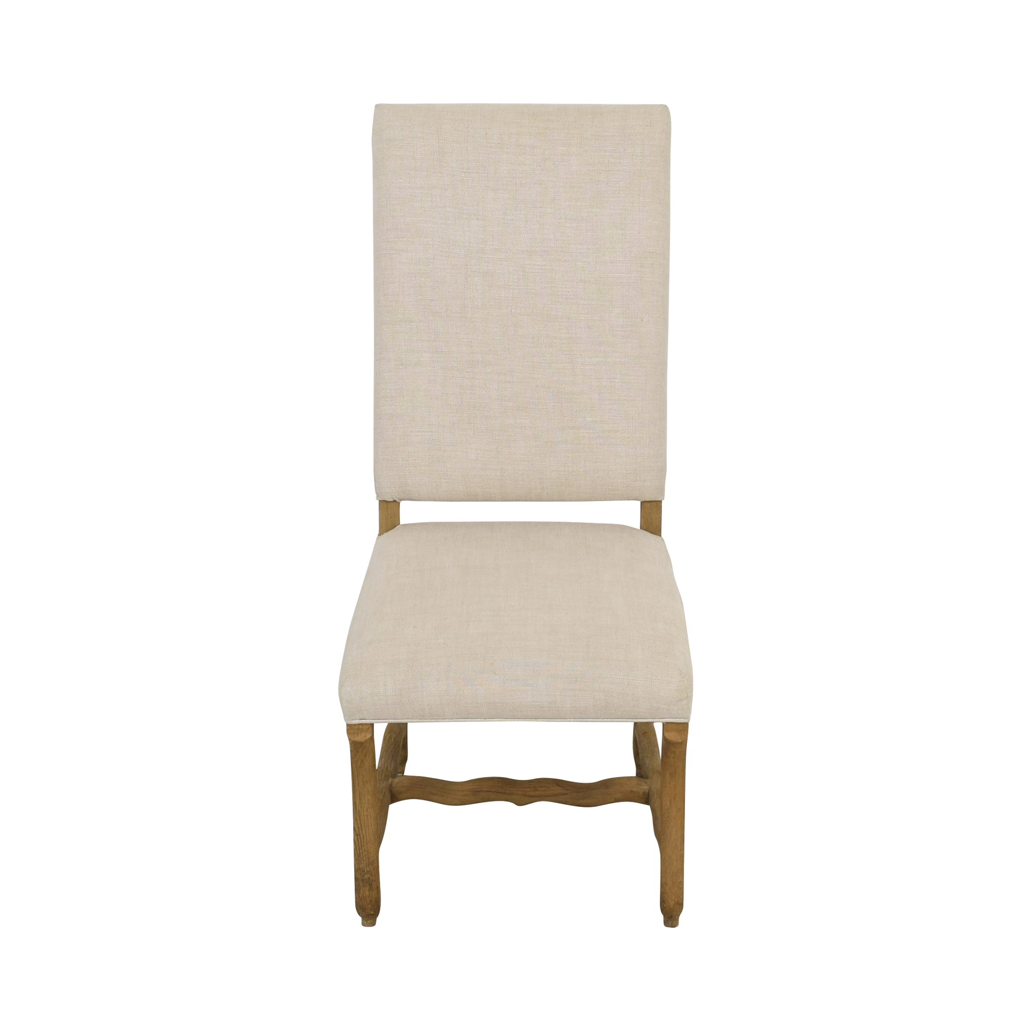Restoration Hardware Restoration Hardware High Back Dining Chair tan