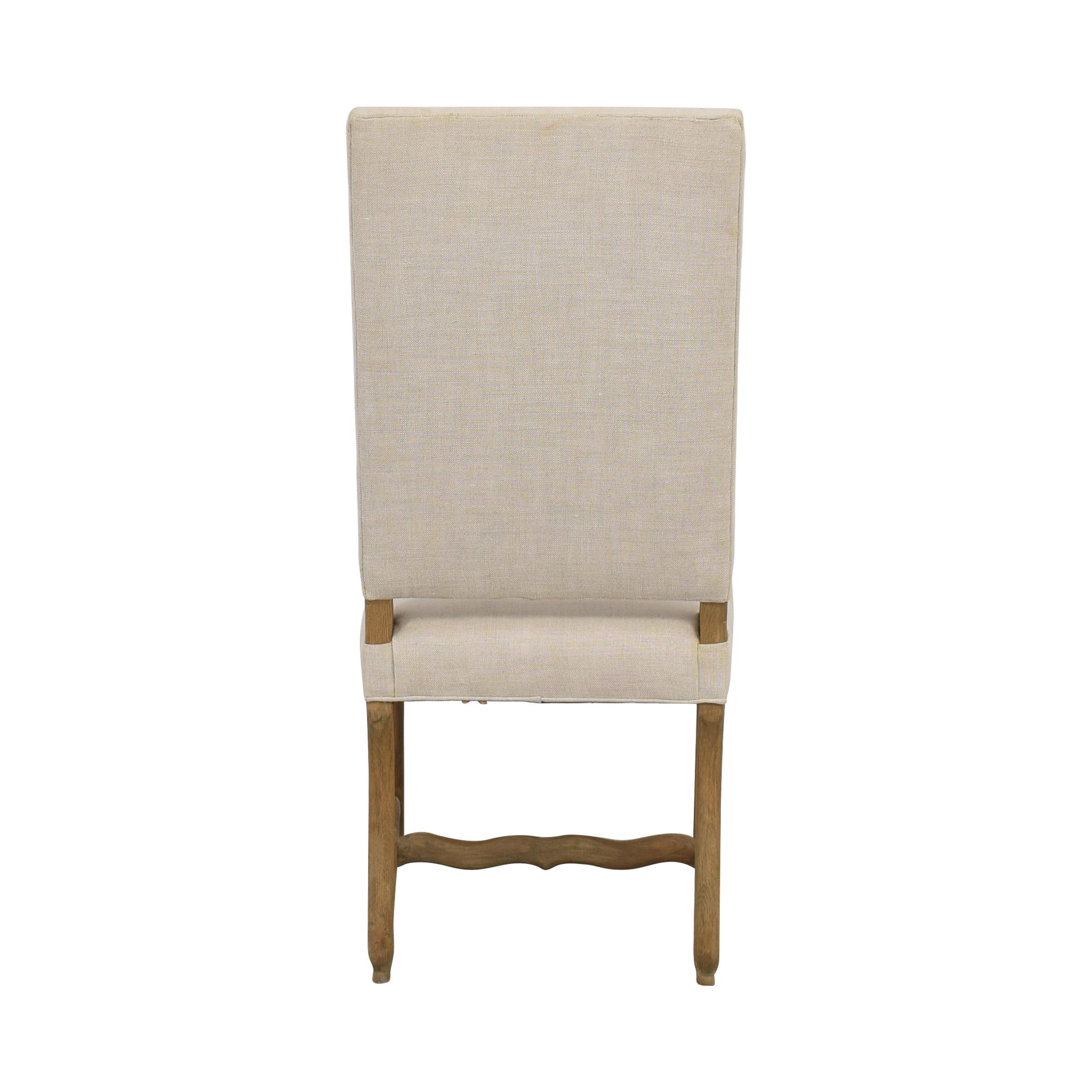shop Restoration Hardware High Back Dining Chair Restoration Hardware Chairs