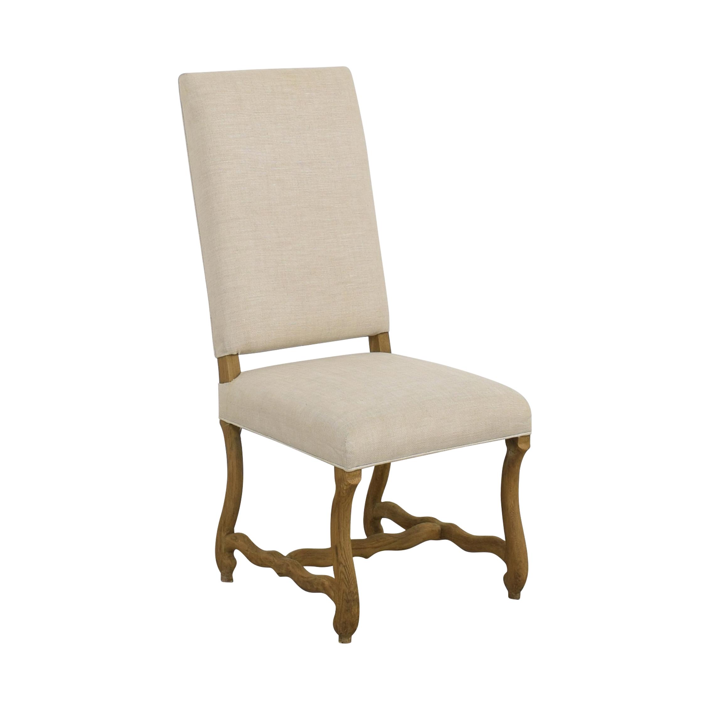 shop Restoration Hardware High Back Dining Chair Restoration Hardware Dining Chairs