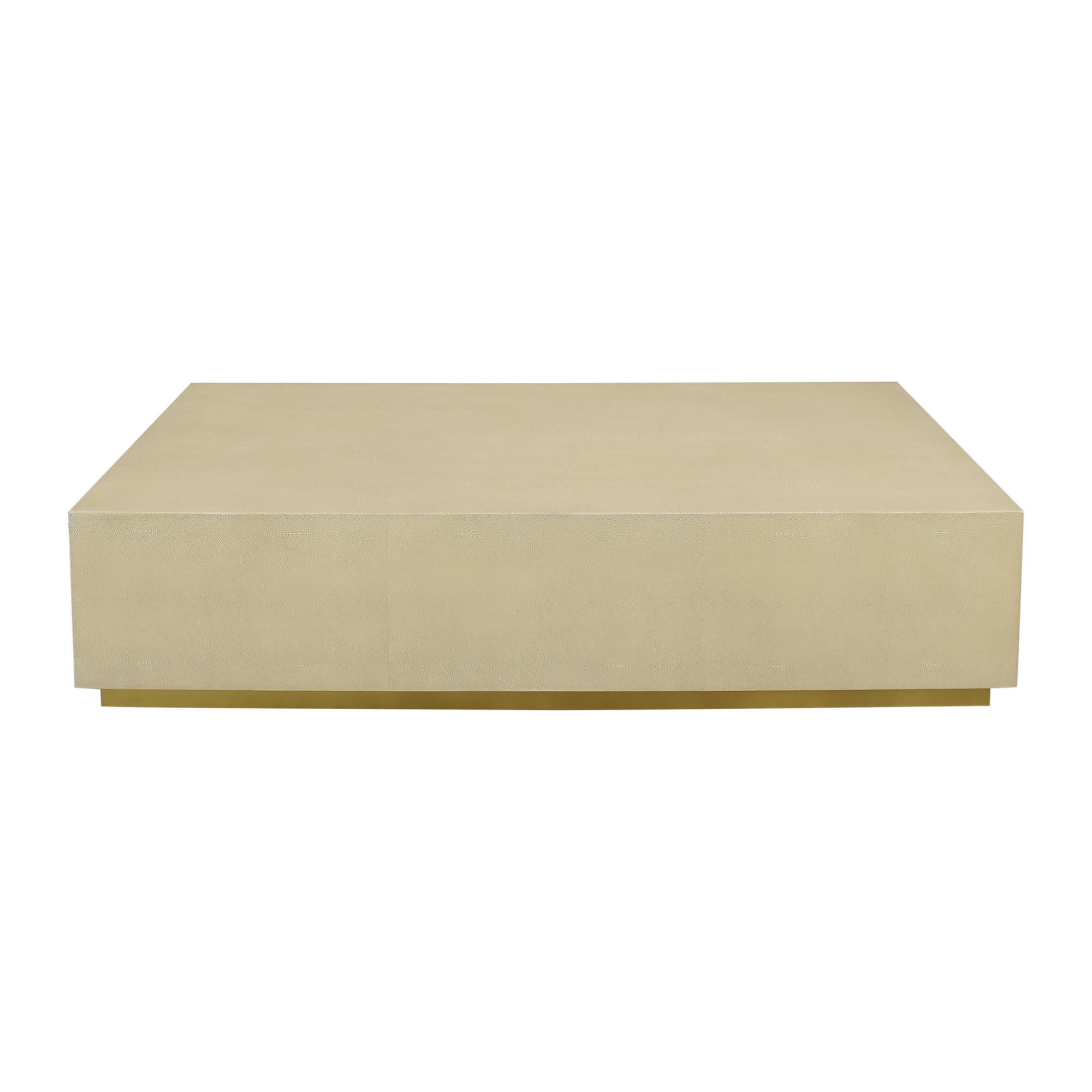 Restoration Hardware Restoration Hardware Graydon Shagreen Plinth Coffee Table second hand