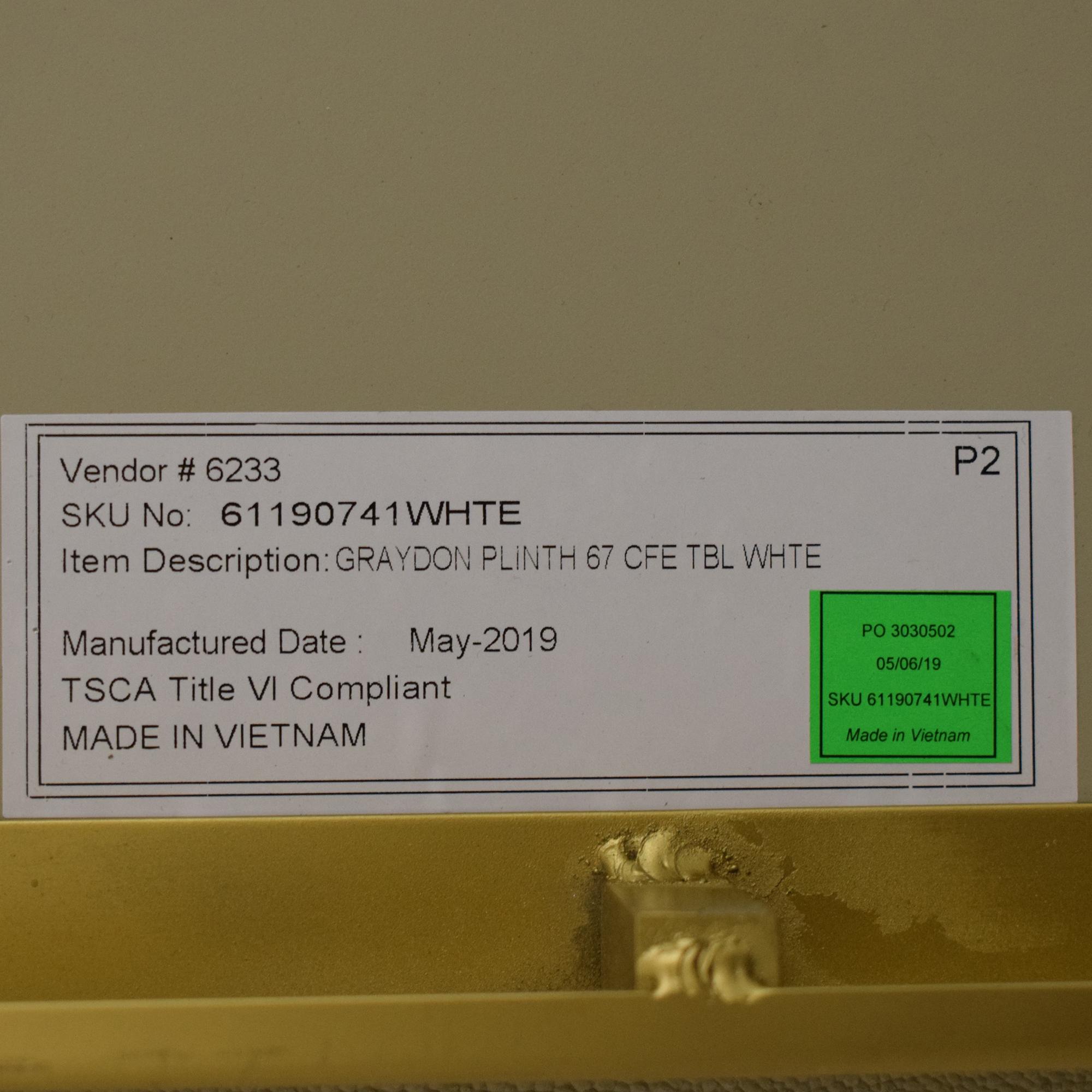 Restoration Hardware Restoration Hardware Graydon Shagreen Plinth Coffee Table used