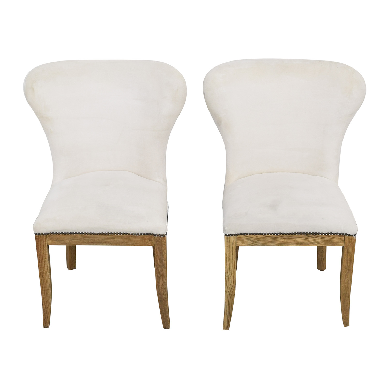 Restoration Hardware Upholstered Dining Chairs sale