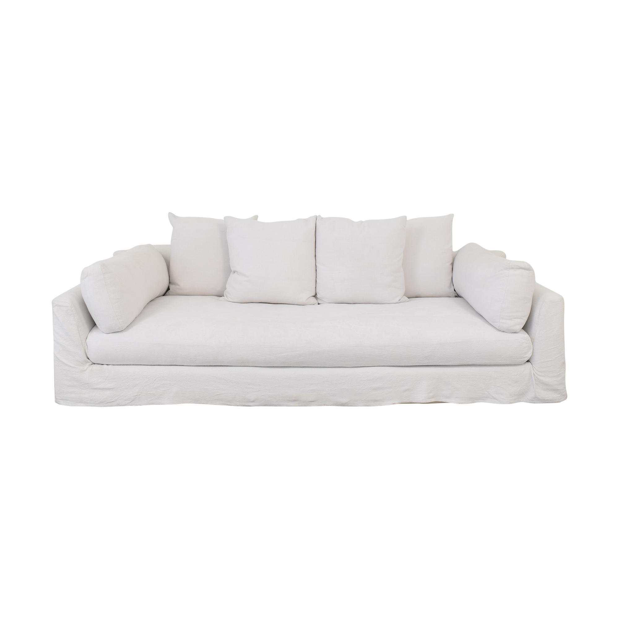One Kings Lane One Kings Lane Banyon Slipcover Sofa dimensions
