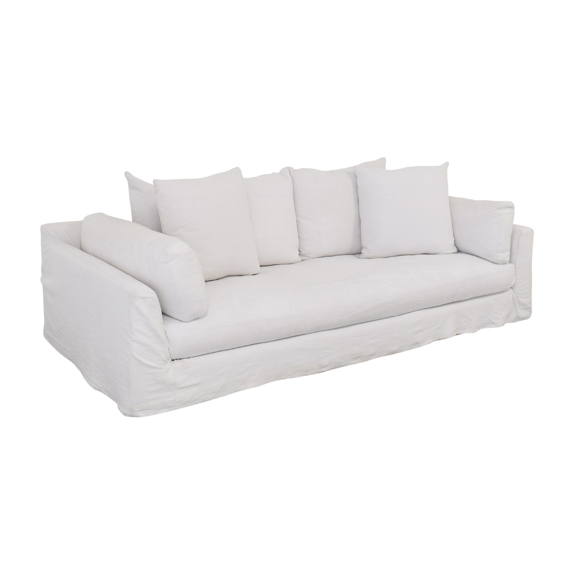 One Kings Lane One Kings Lane Banyon Slipcover Sofa for sale