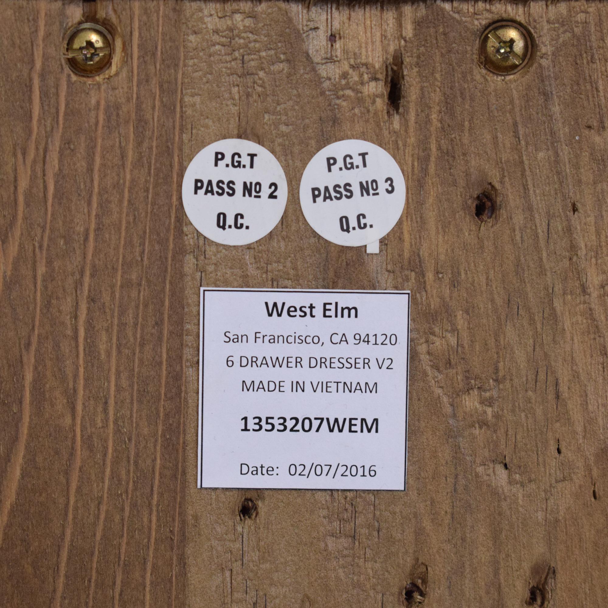 West Elm West Elm Emmerson Reclaimed Six Drawer Dresser ct