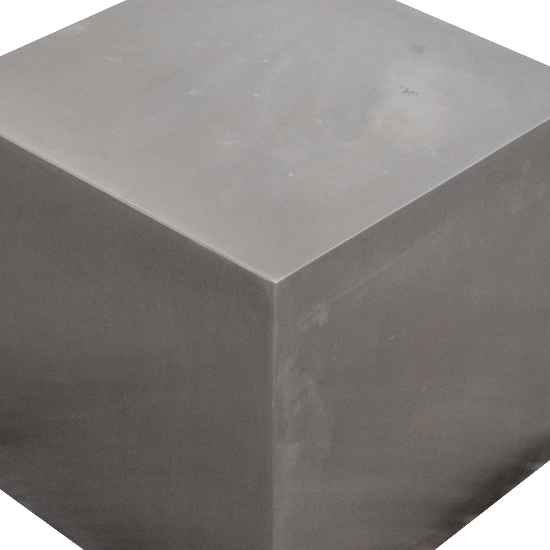 shop Gus Modern Stainless Cube Gus Modern End Tables