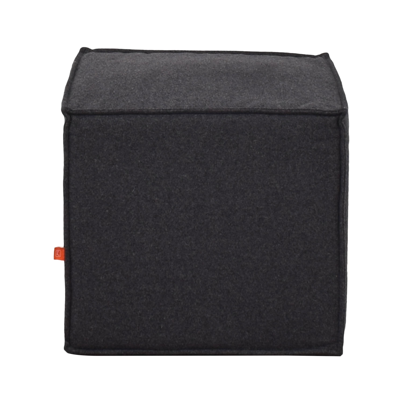 Gus Modern Upholstered Cube Ottoman or Stool Gus Modern