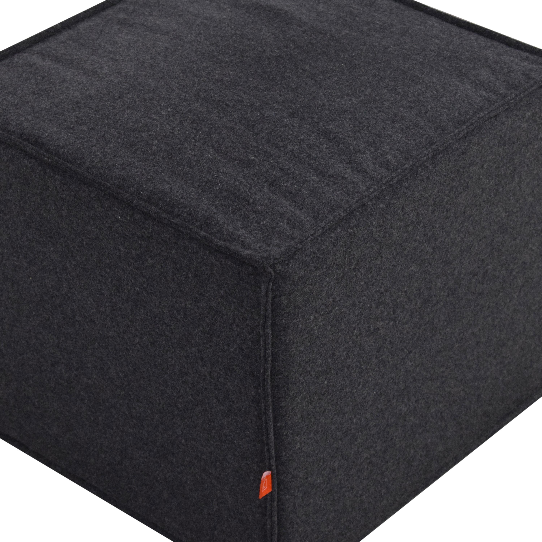 Gus Modern Upholstered Cube Ottoman or Stool / Ottomans