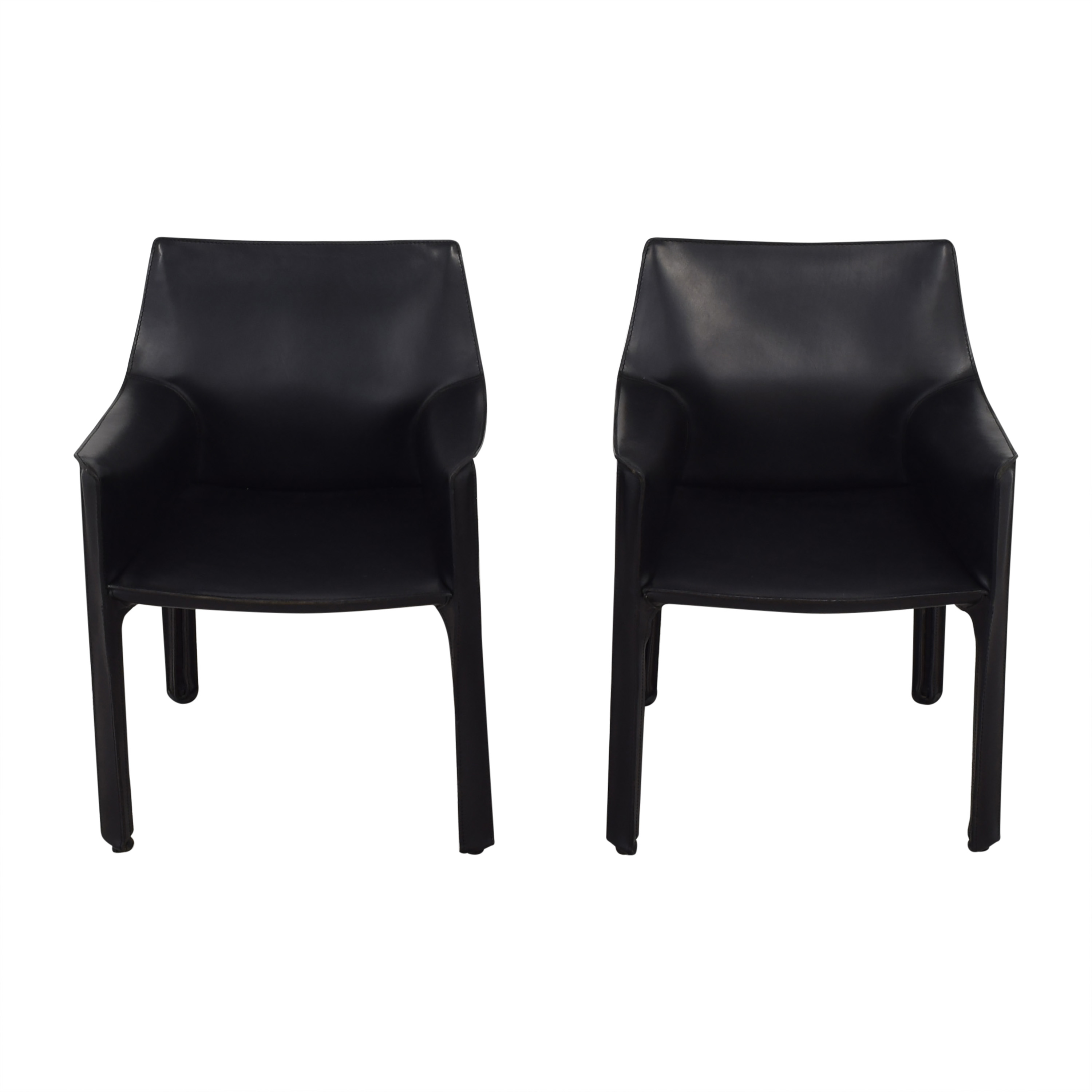 Cassina Cassina Mario Bellini Leather Cab Chairs Dining Chairs