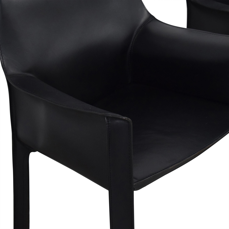 Cassina Cassina Mario Bellini Leather Cab Chairs used