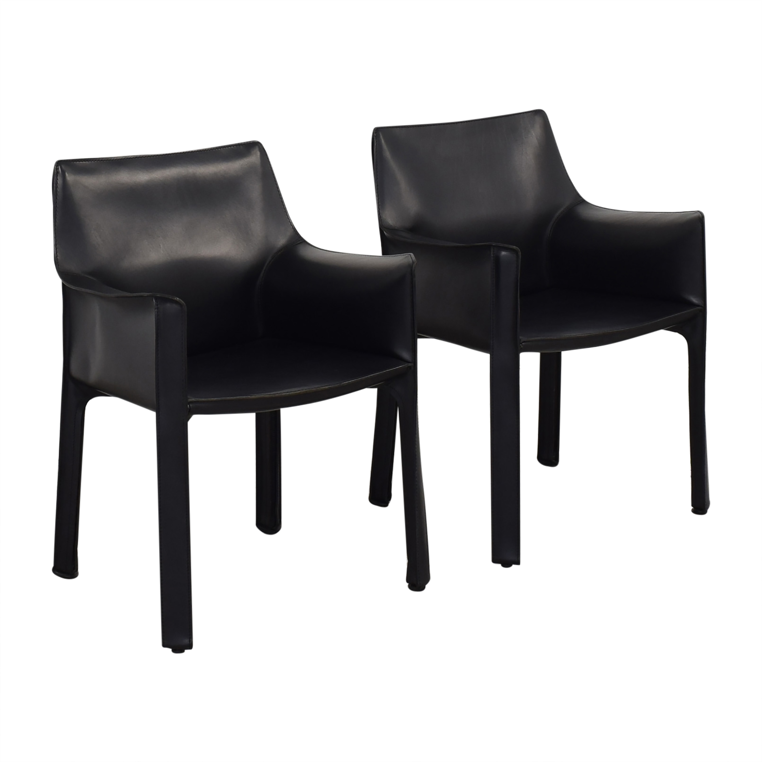 Cassina Cassina Mario Bellini Leather Cab Chairs Chairs