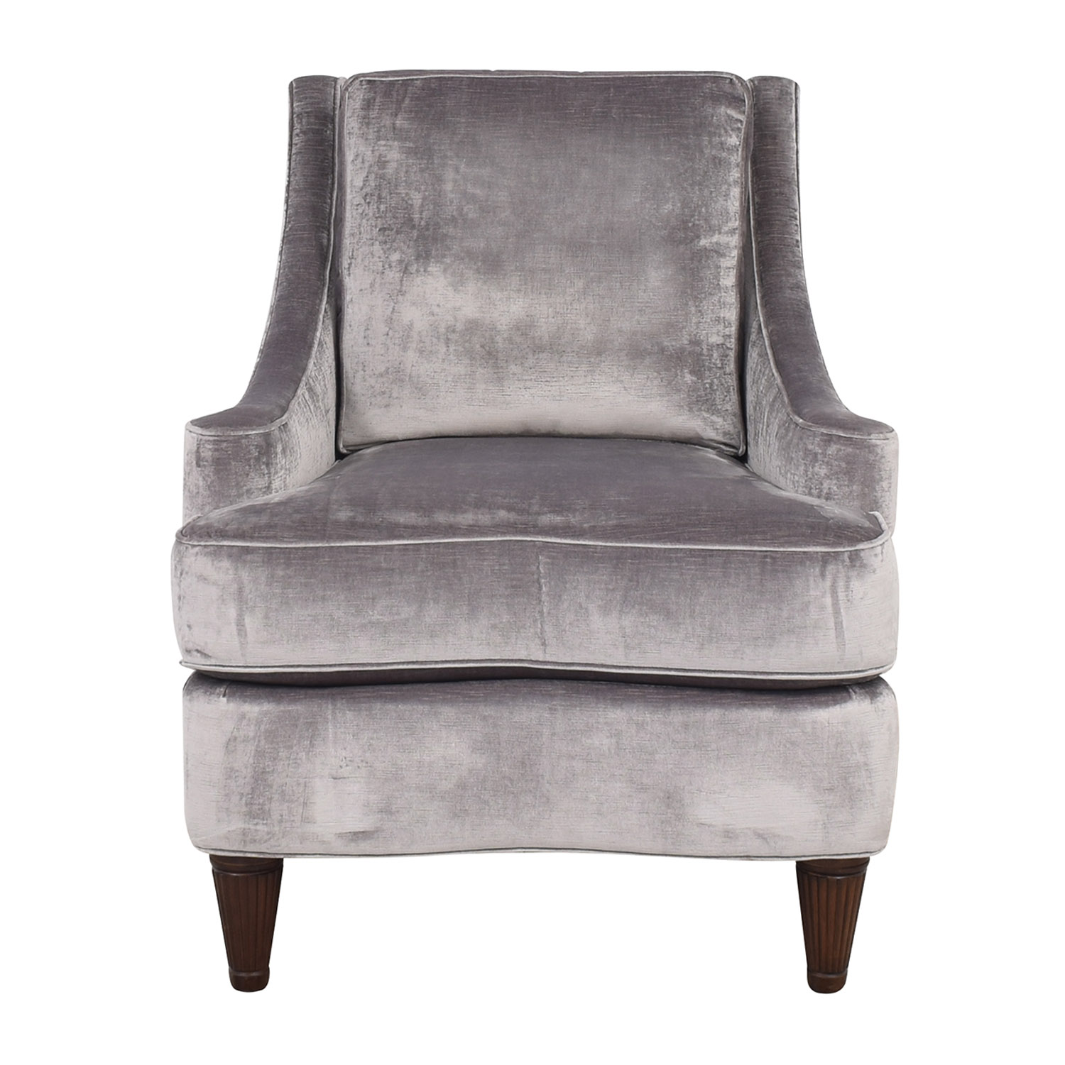 Thomasville Thomasville Grey Velvet Chair