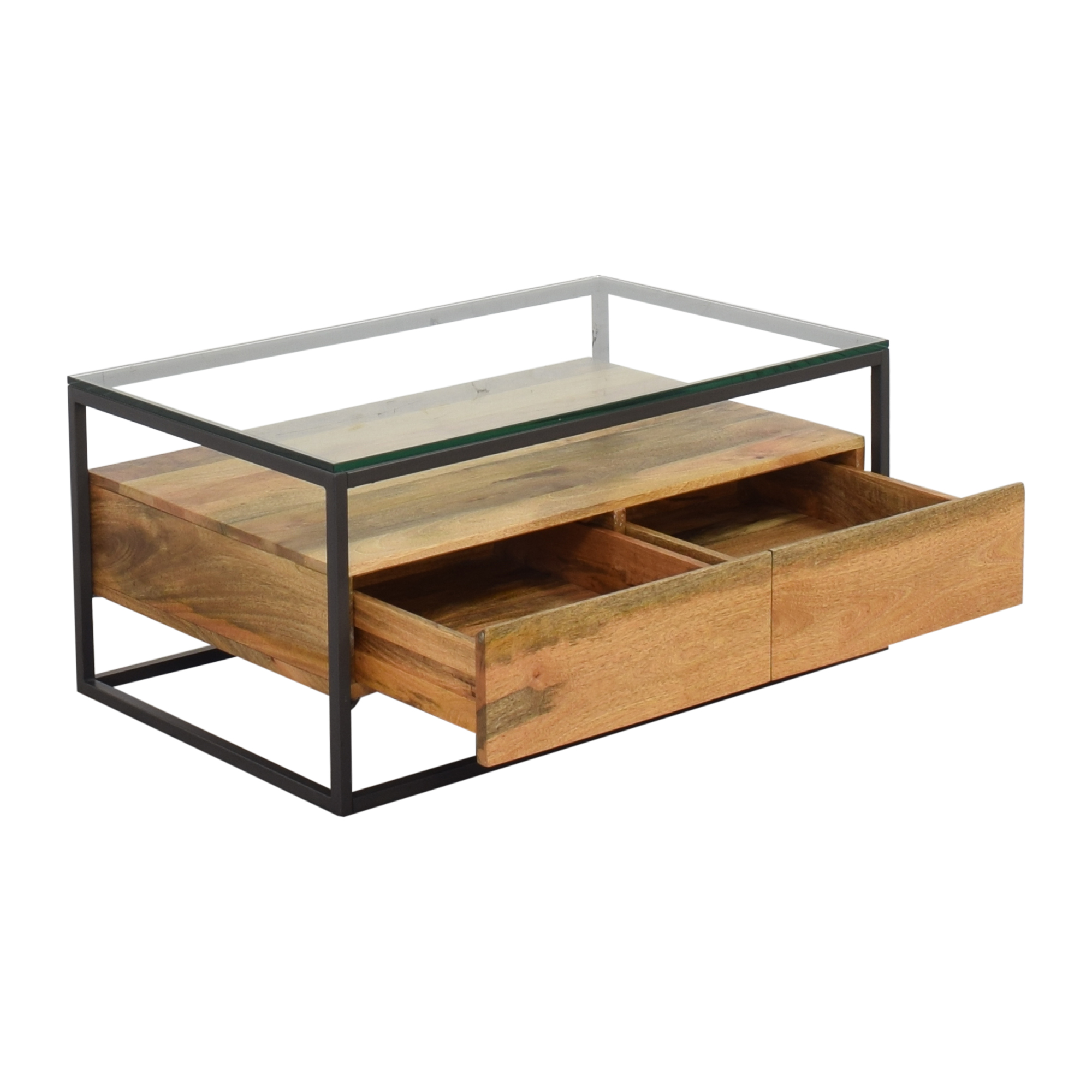31 Off West Elm West Elm Box Frame Storage Coffee Table Tables