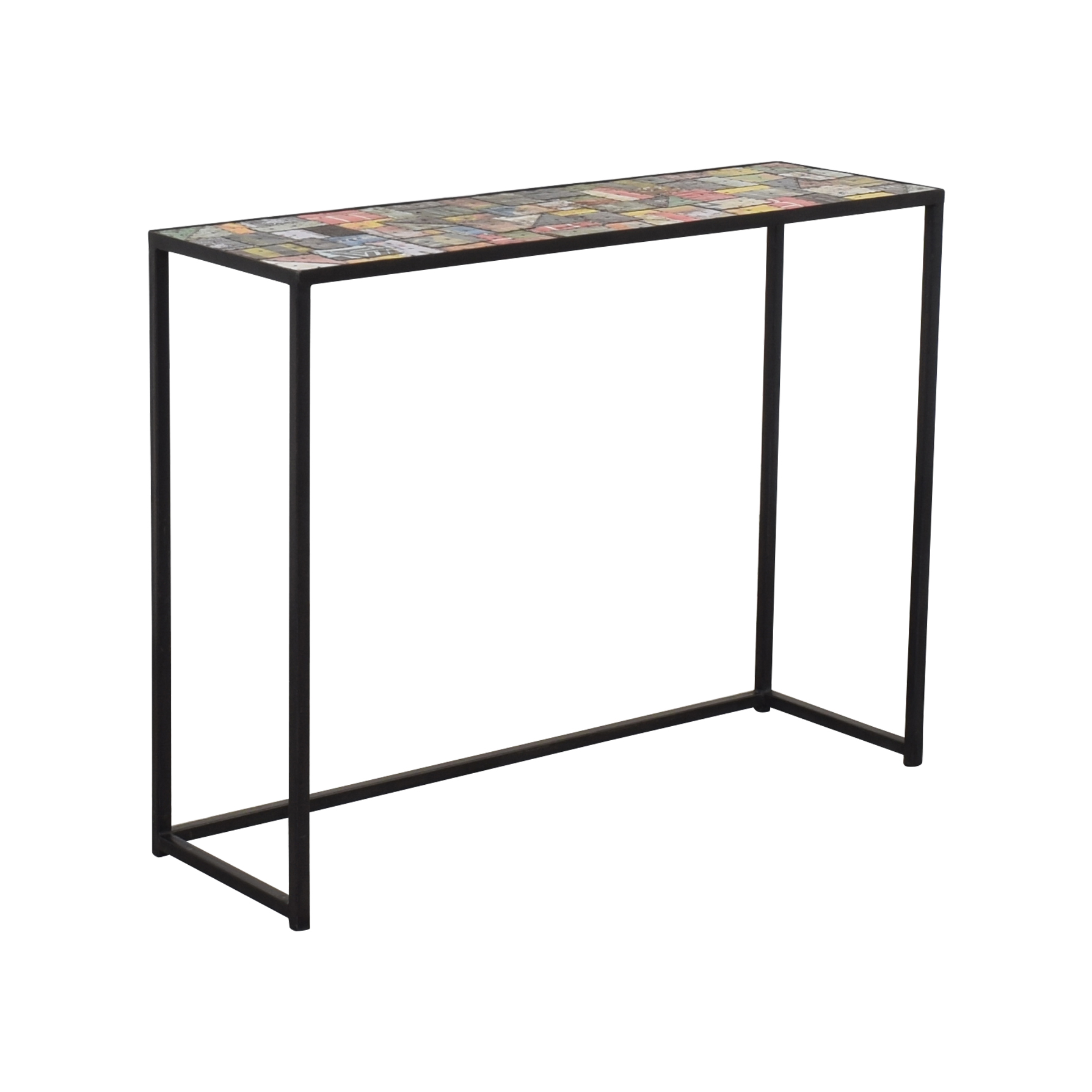 - 57% OFF - Industrial Accent Console Table / Tables