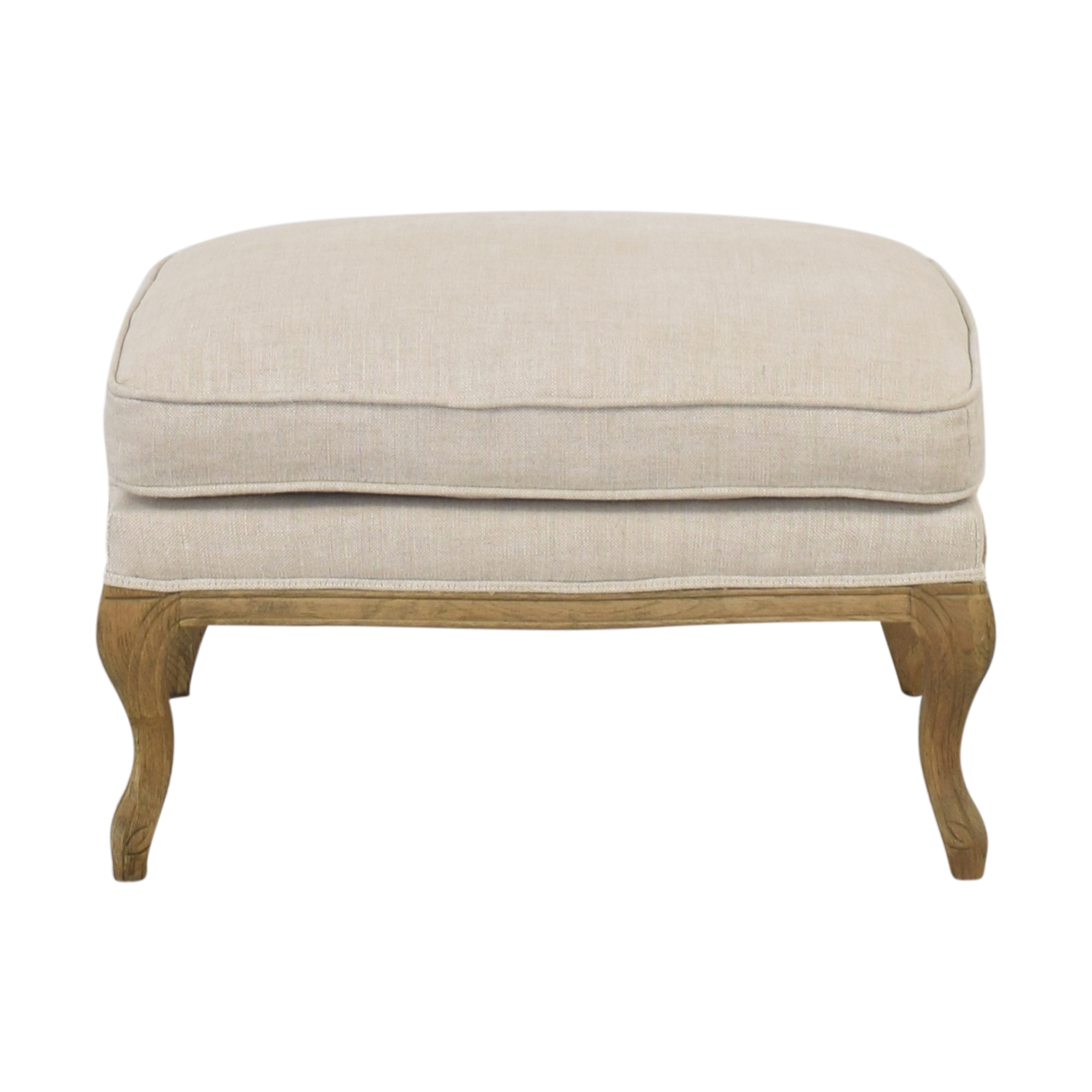 buy Restoration Hardware Cabriole Ottoman Restoration Hardware