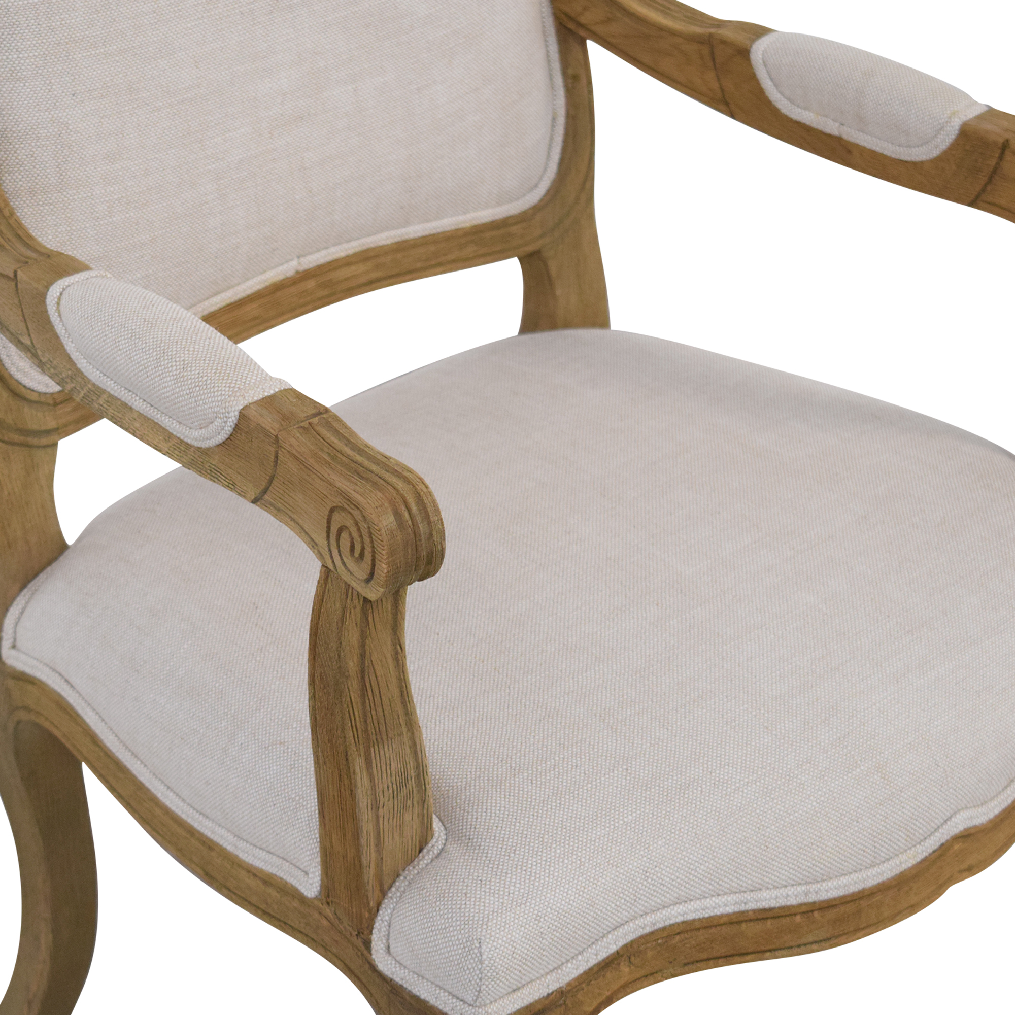 Restoration Hardware Restoration Hardware Vintage French Camelback Fabric Armchair on sale