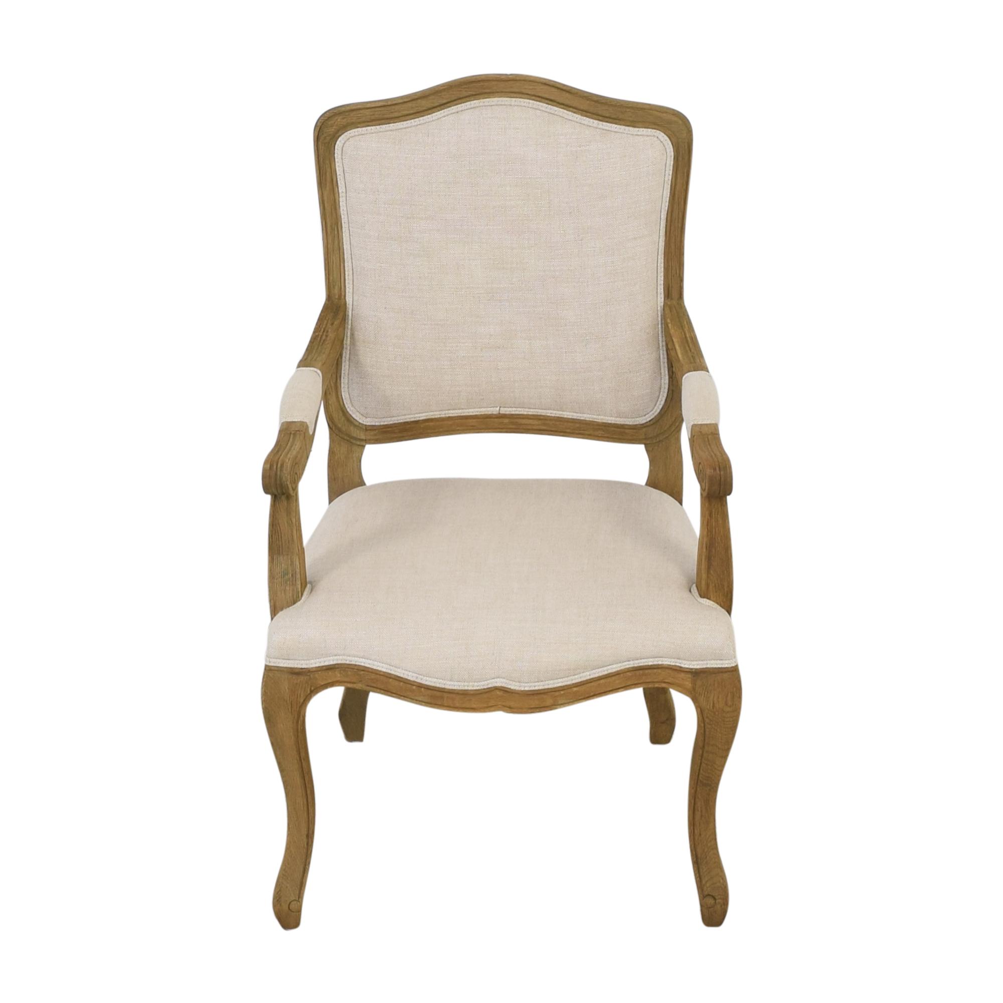 buy Restoration Hardware Vintage French Camelback Fabric Armchair Restoration Hardware