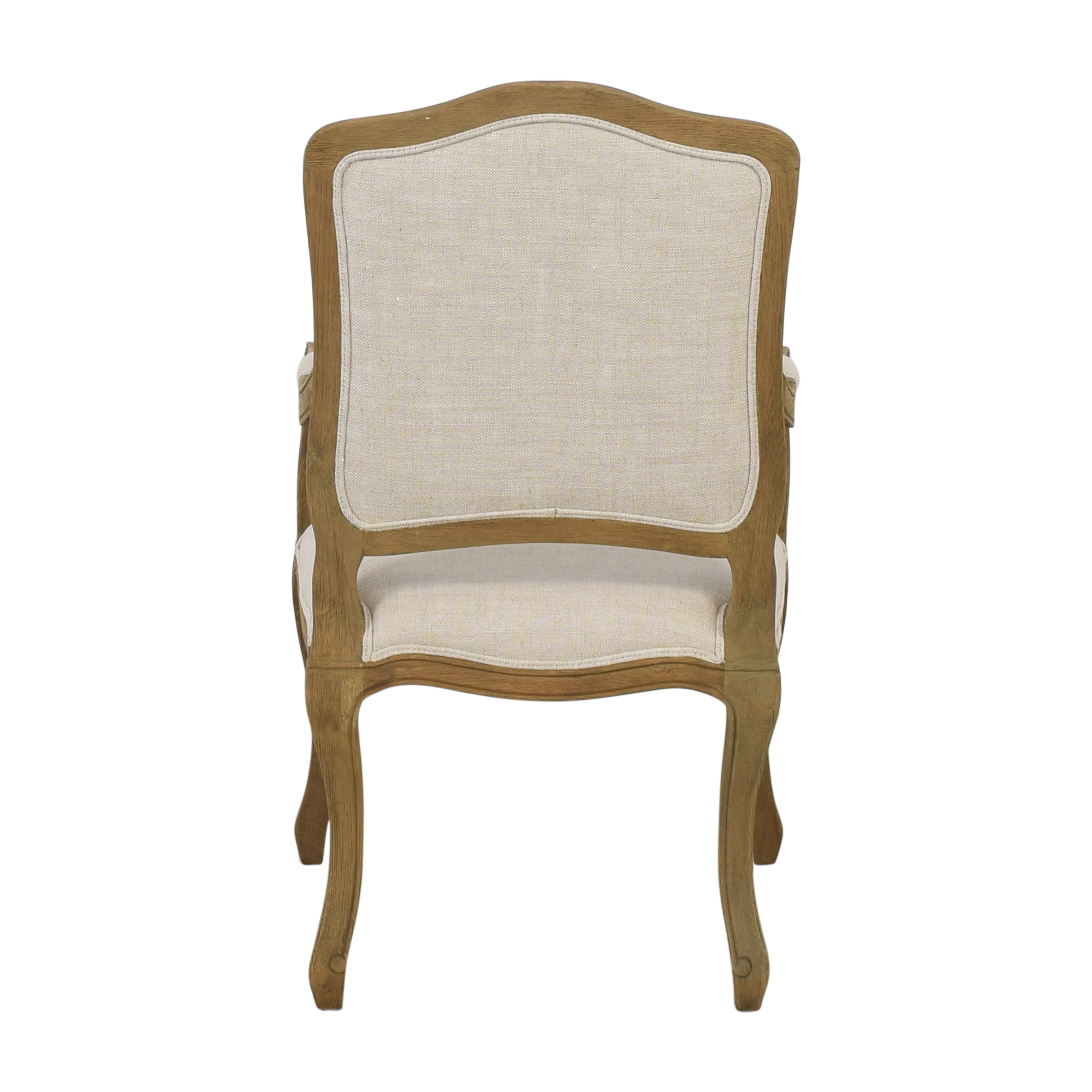Restoration Hardware Restoration Hardware Vintage French Camelback Fabric Armchair Accent Chairs