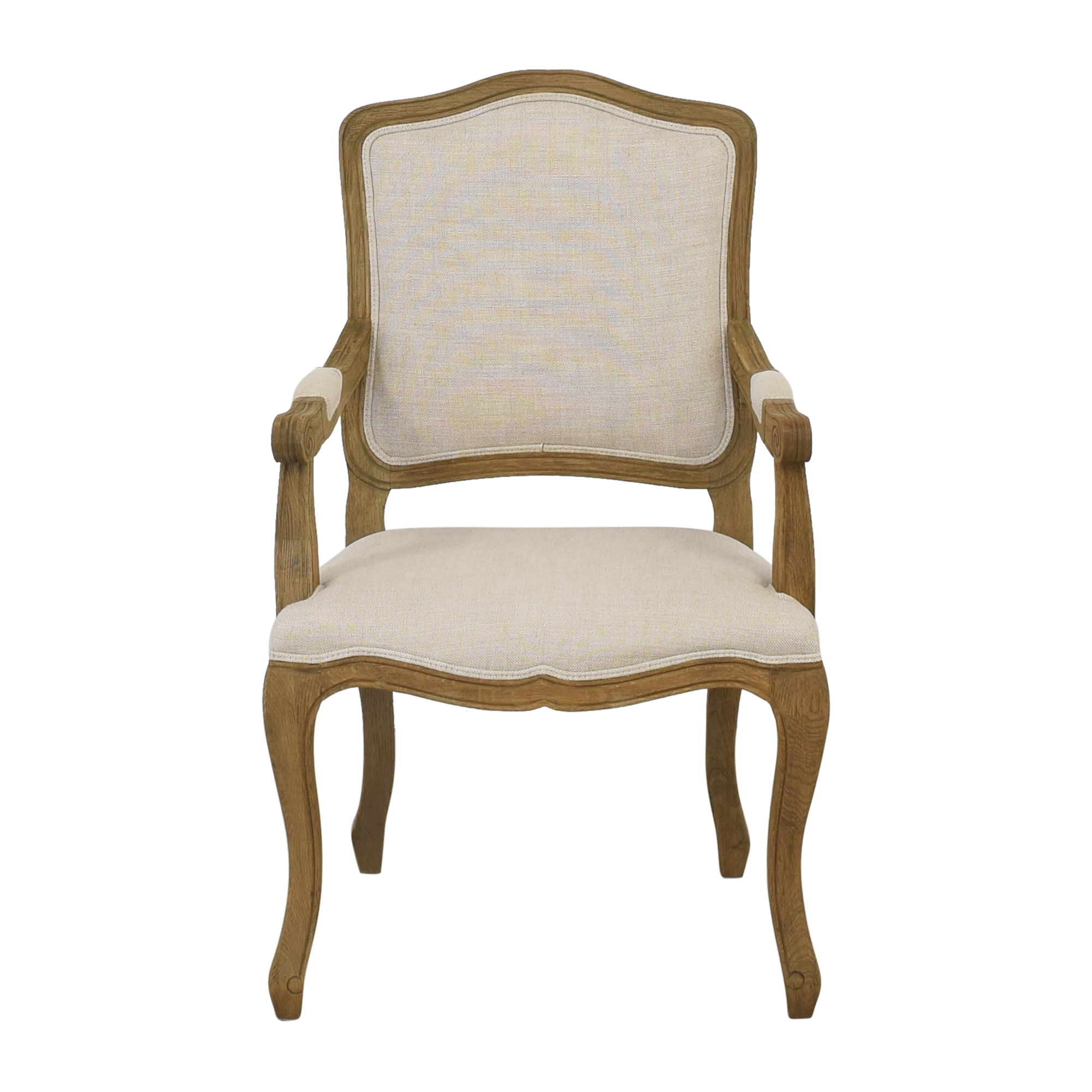 buy Restoration Hardware Vintage French Camelback Fabric Armchair Restoration Hardware Chairs