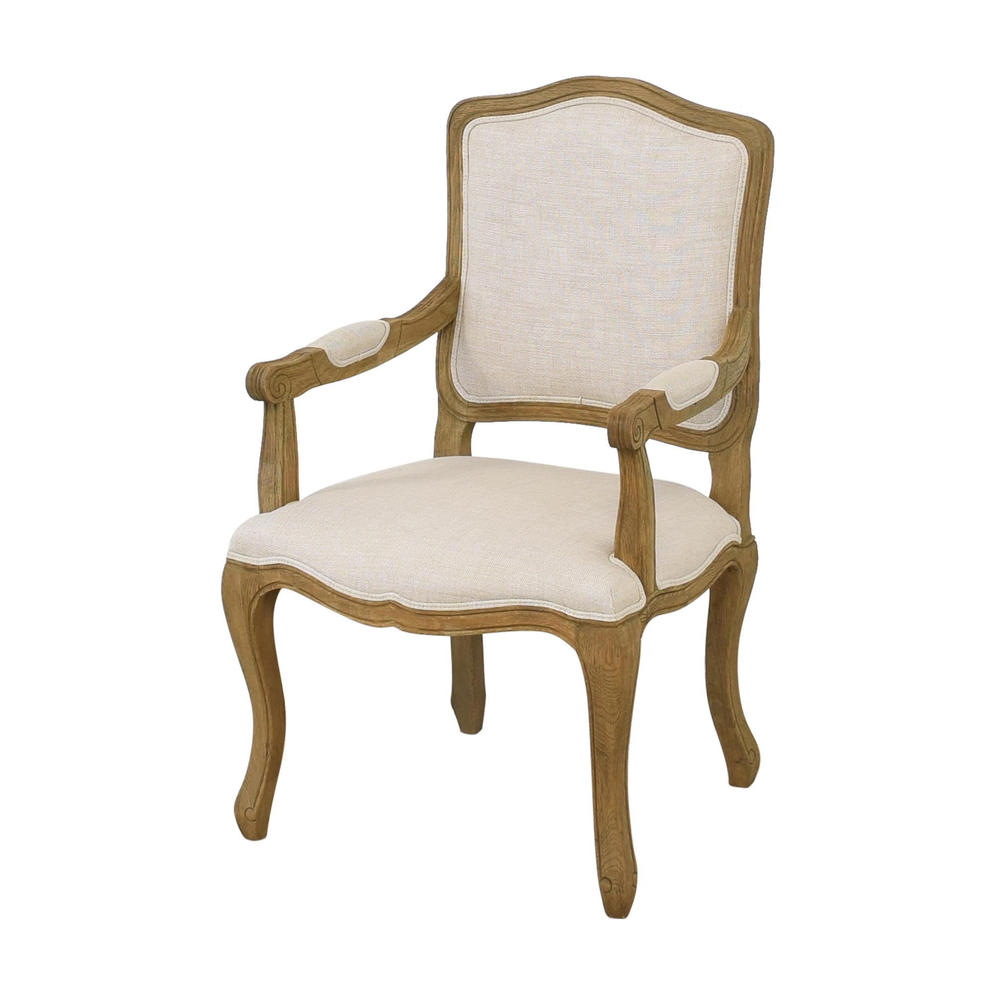 Restoration Hardware Restoration Hardware Vintage French Camelback Fabric Armchair discount