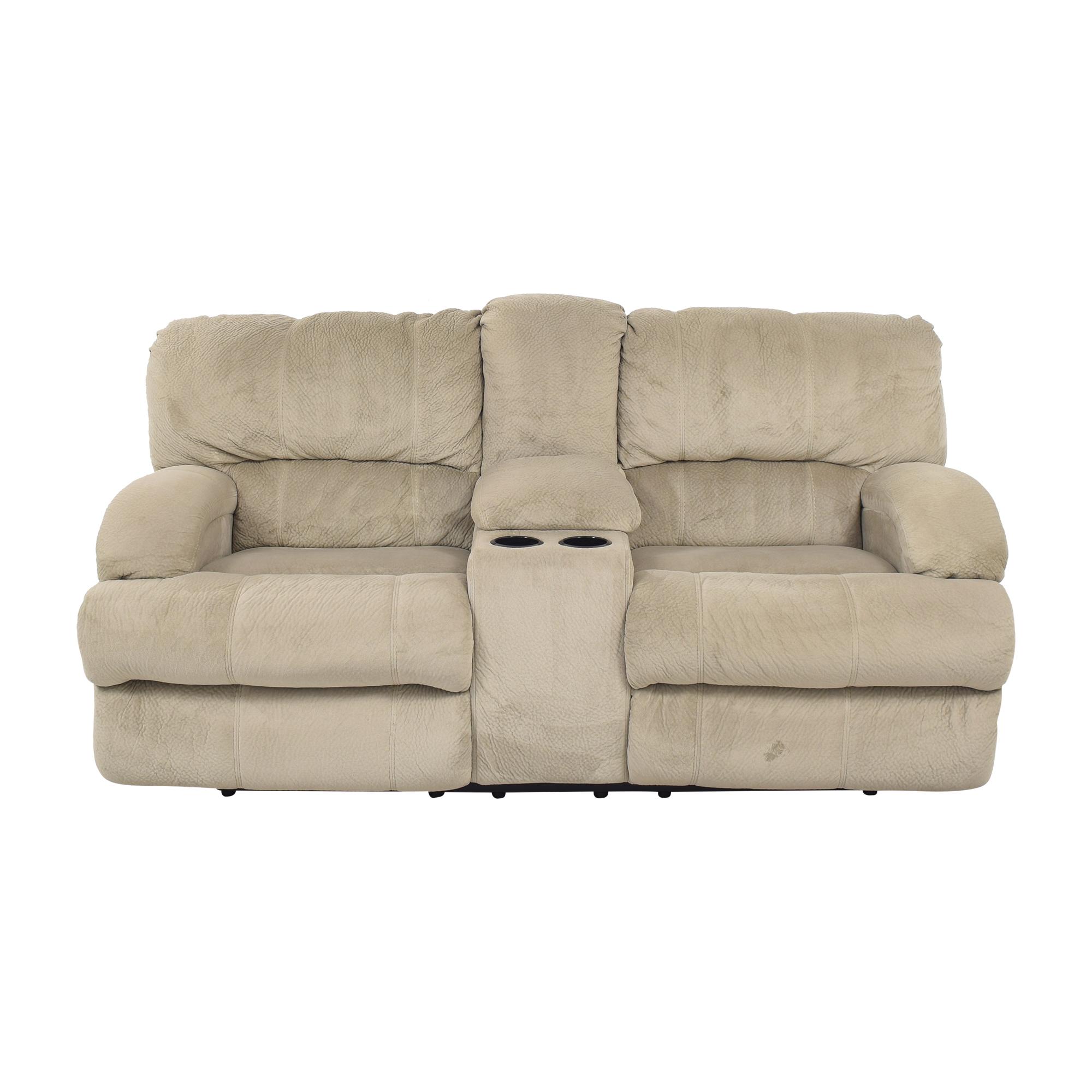 Raymour & Flanigan Microfiber Reclining Sofa / Classic Sofas