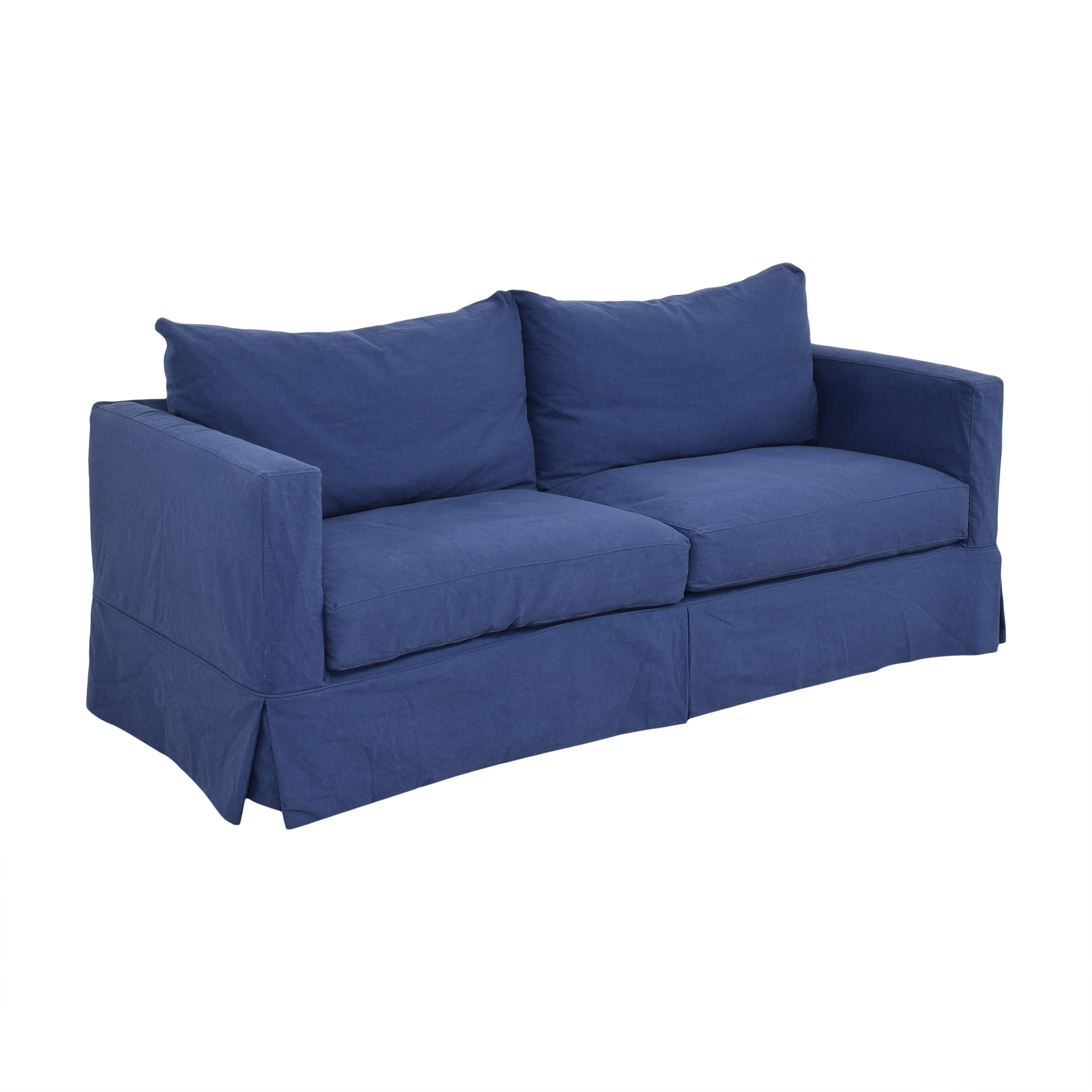 Crate & Barrel Crate & Barrel Willow Modern Slipcovered Sofa for sale