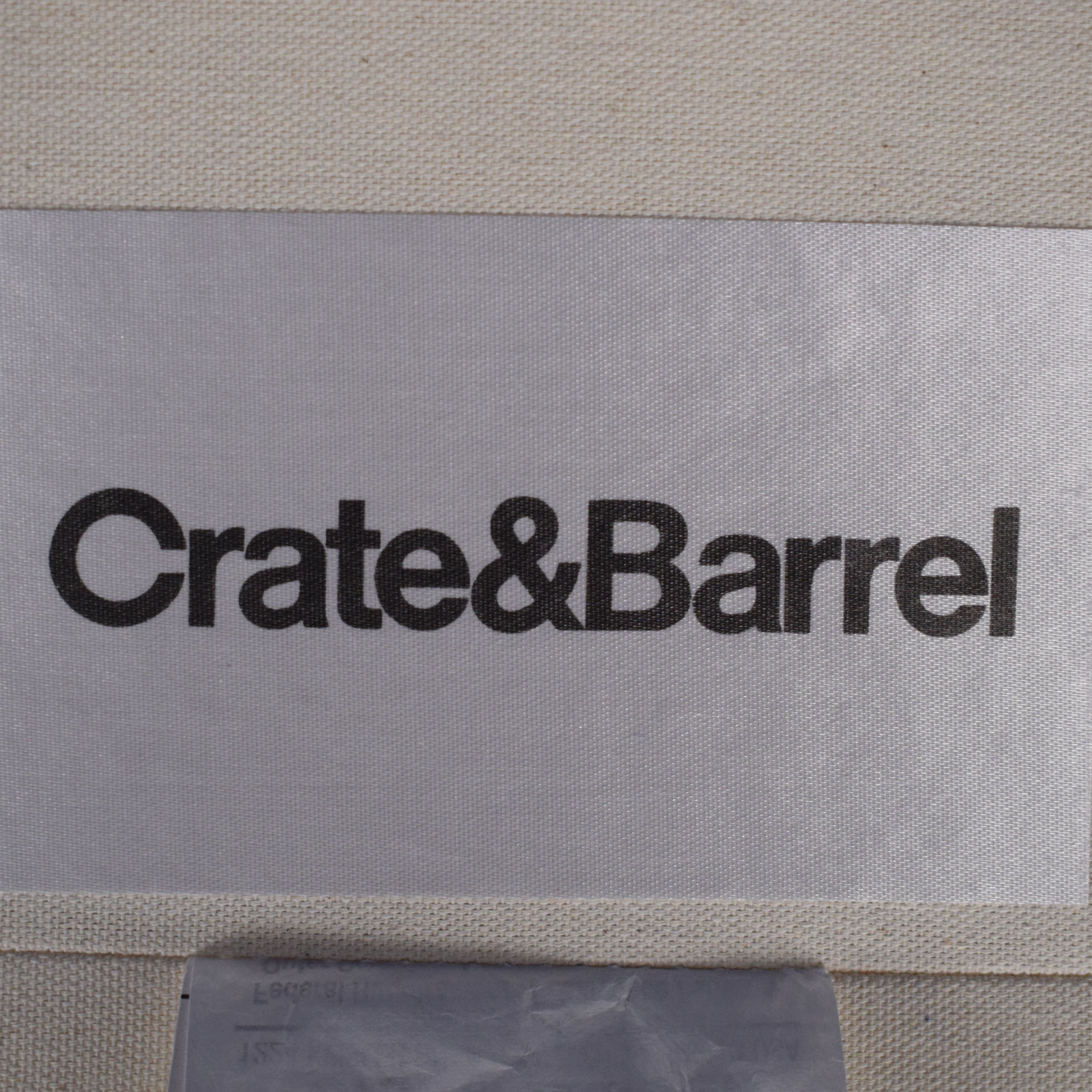 Crate & Barrel Crate & Barrel Willow Modern Slipcovered Sofa Classic Sofas