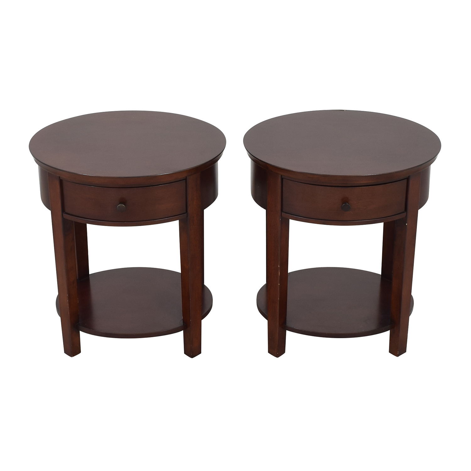 Pottery Barn Pottery Barn Valencia Oval Bedside Tables dimensions