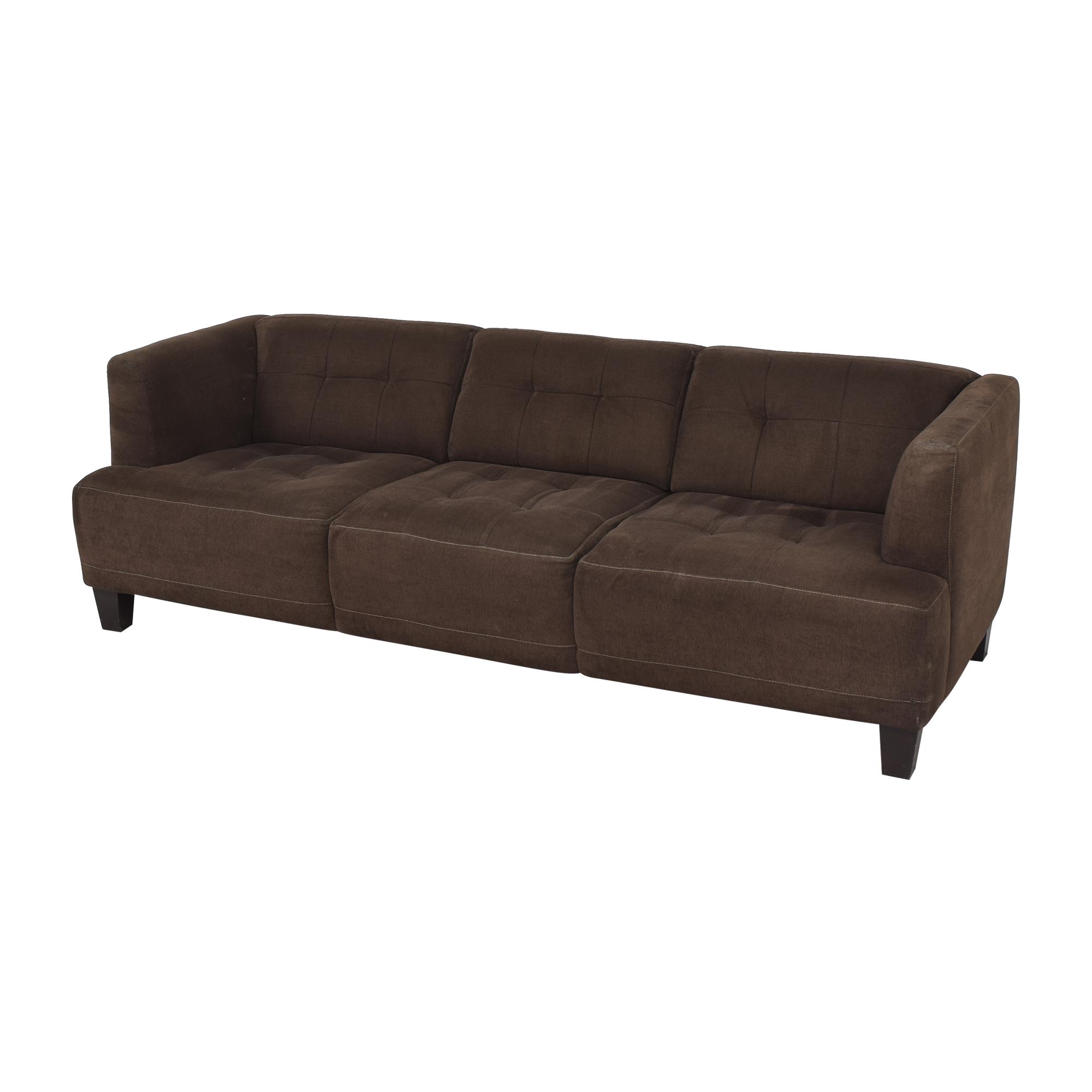 shop Macy's Jonathan Louis Three Cushion Sofa Macy's