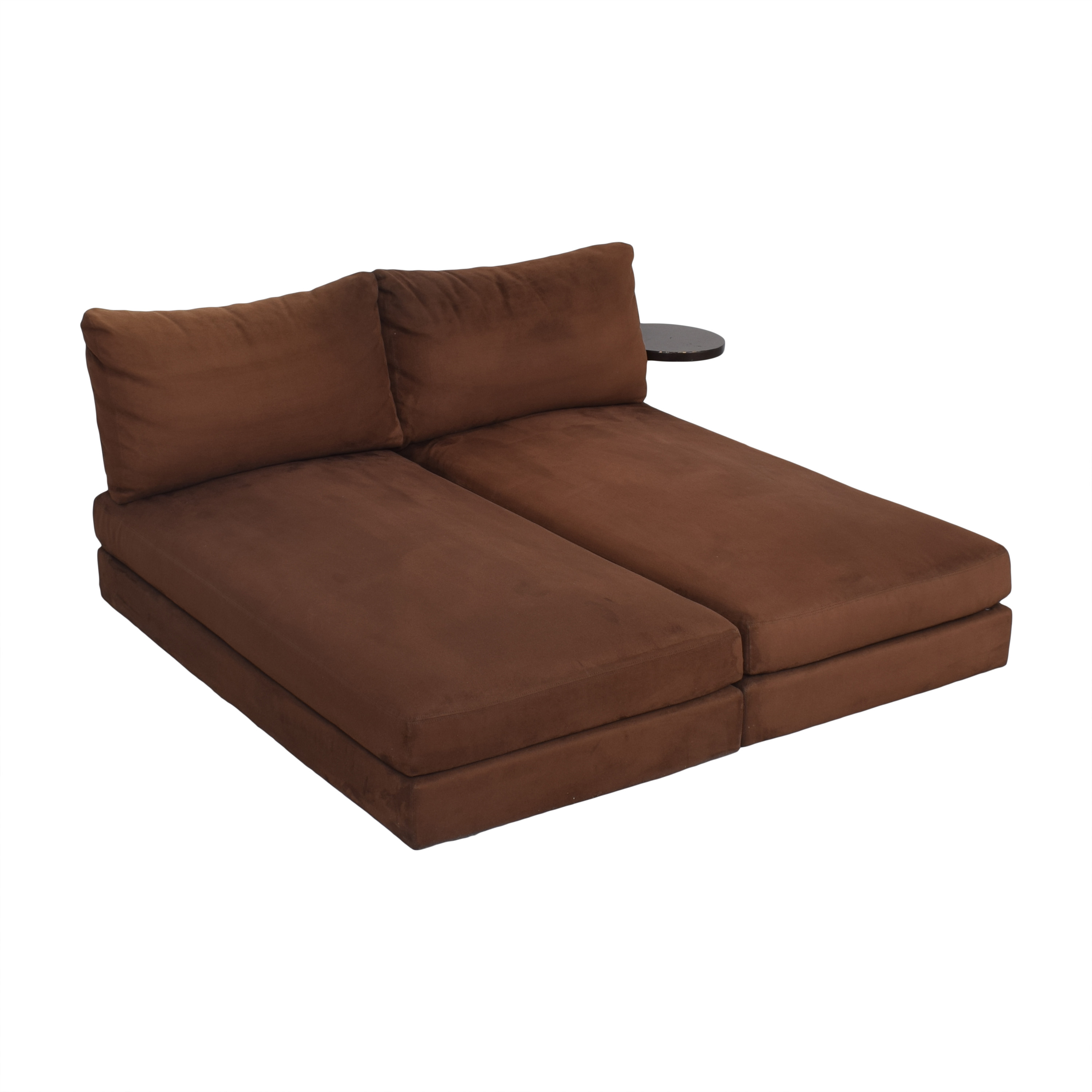King Furniture King Furniture Suede Chaise Sectional with Table Attachment Sectionals