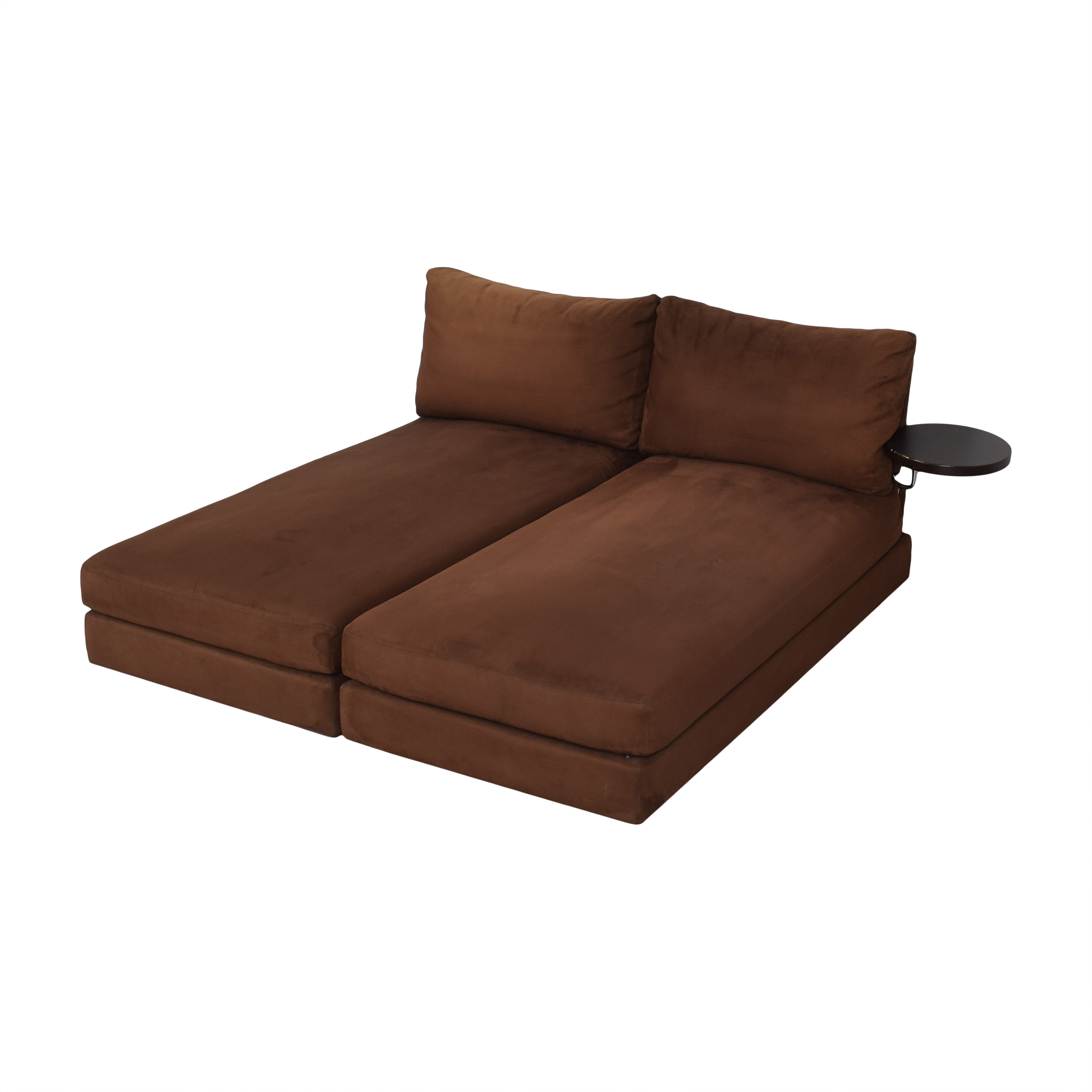 King Furniture King Furniture Suede Chaise Sectional with Table Attachment coupon