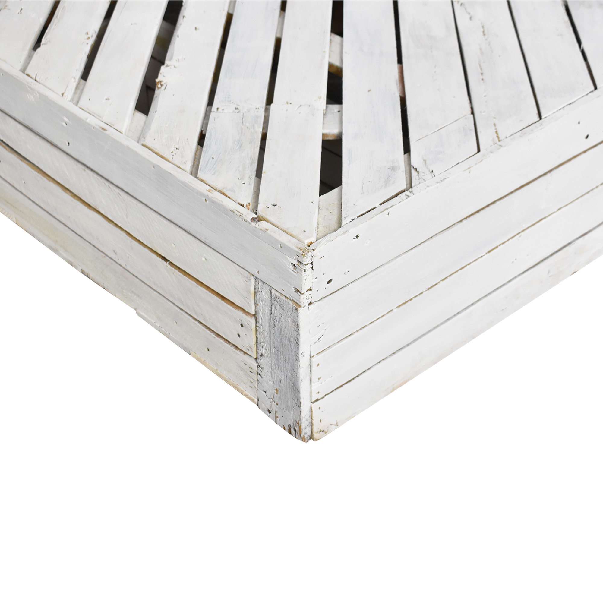 Custom White Pallet Queen to Full Bed Frame with Drawers nj