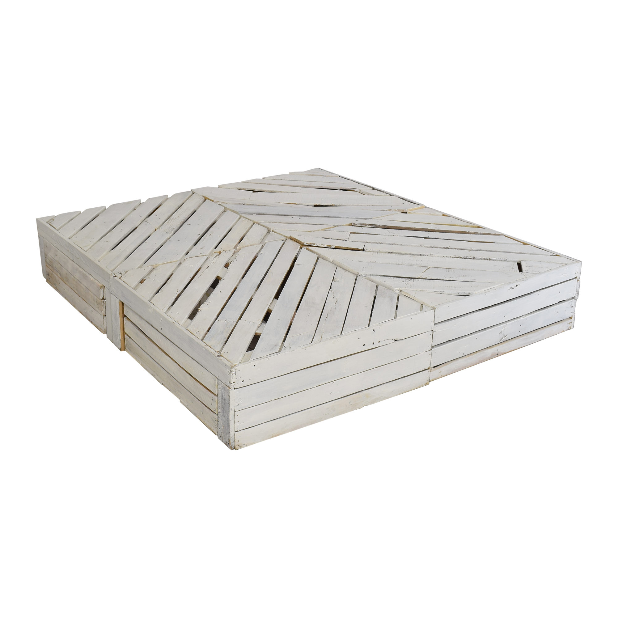 buy Custom White Pallet Queen to Full Bed Frame with Drawers  Bed Frames
