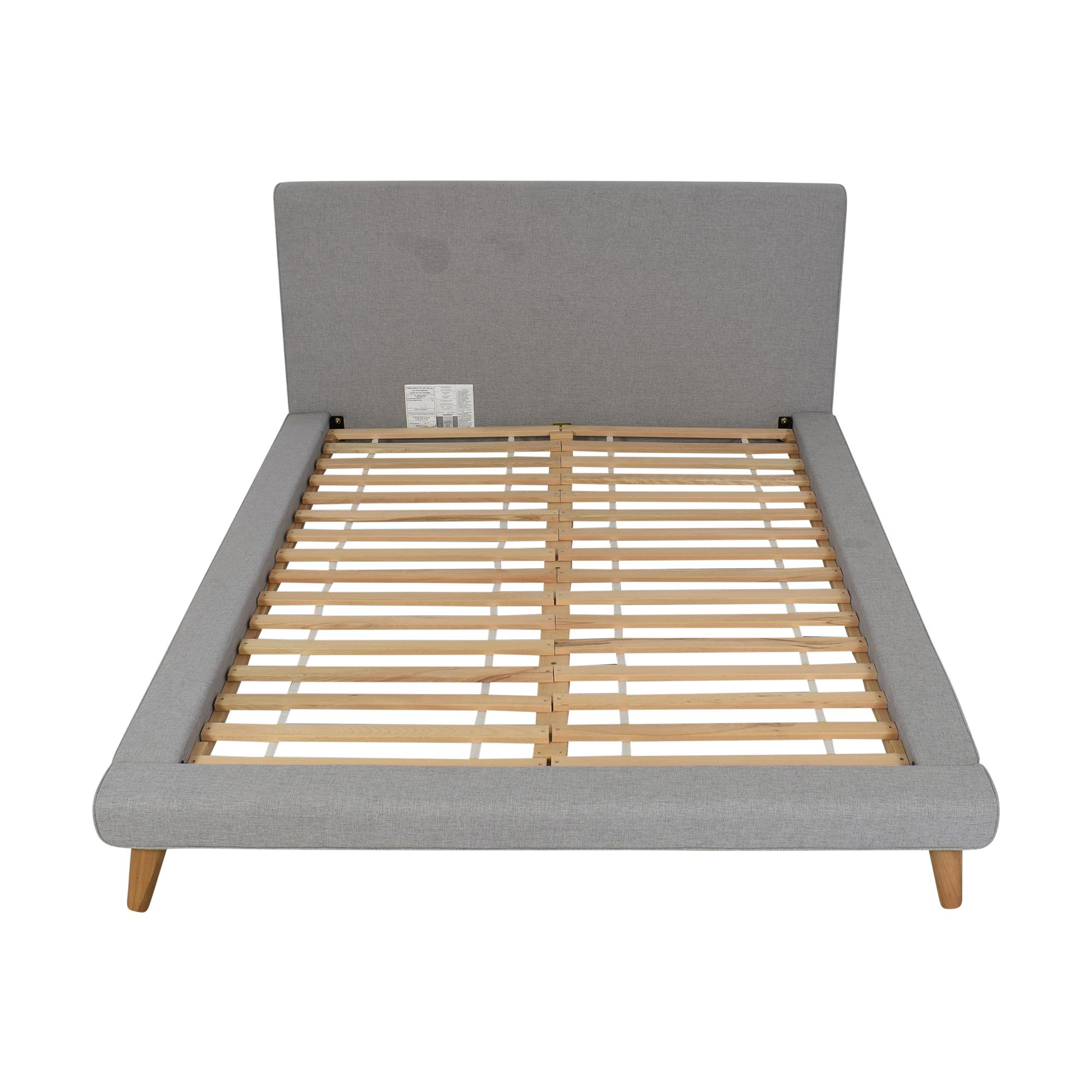 West Elm Mod Upholstered Queen Bed / Bed Frames