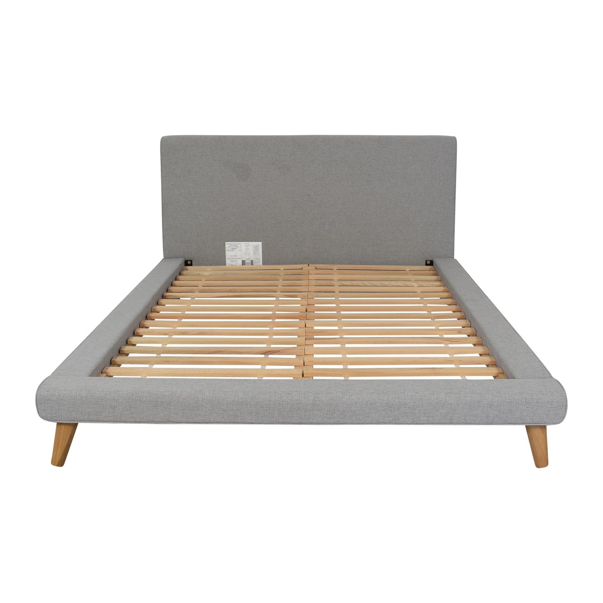 West Elm West Elm Mod Upholstered Queen Bed second hand