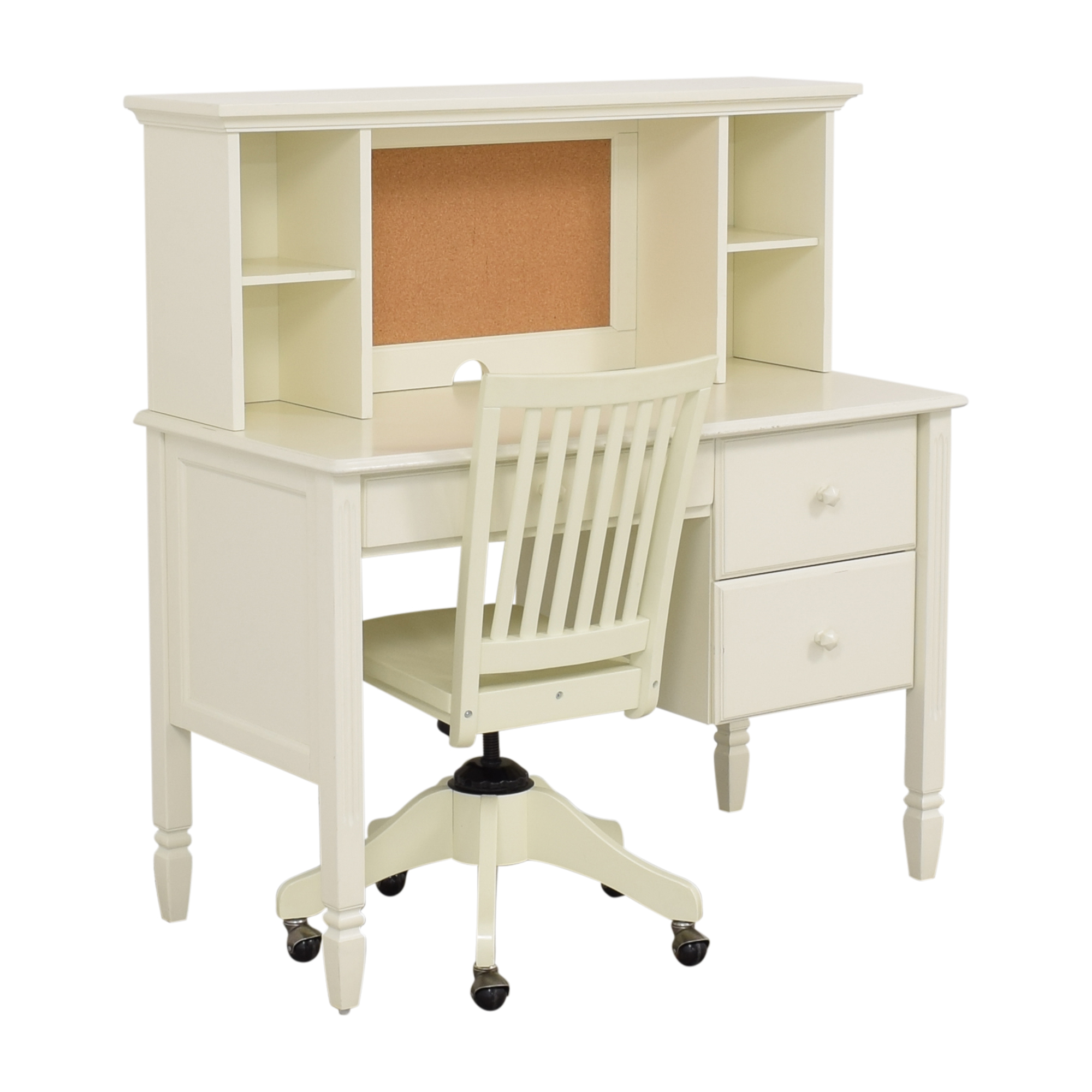 shop Pottery Barn Kids Madeline Desk and Hutch with Chair Pottery Barn Kids Home Office Desks