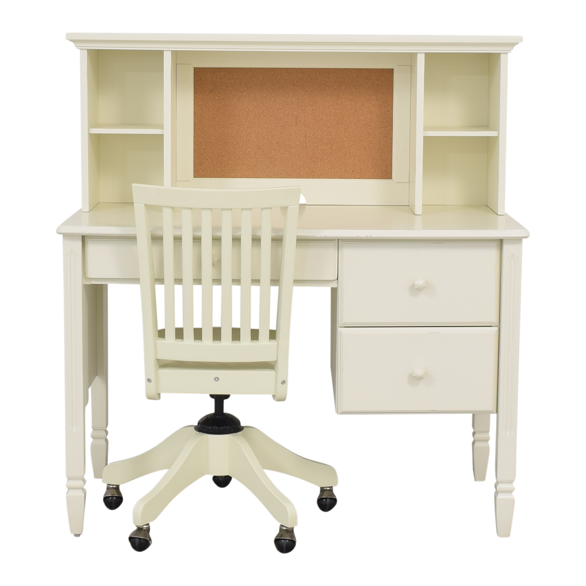 shop Pottery Barn Kids Madeline Desk and Hutch with Chair Pottery Barn Kids Tables