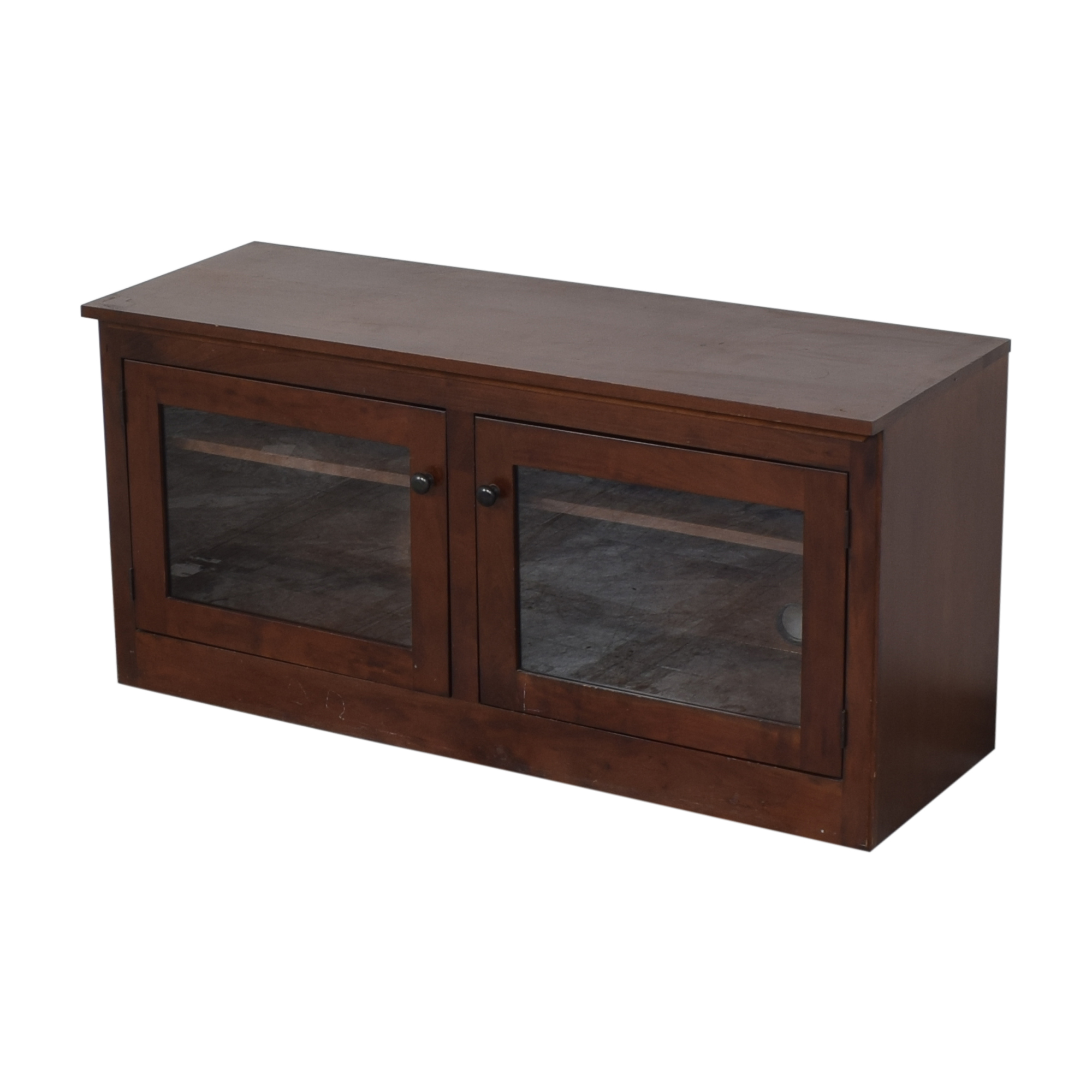 Media Console with Glass Doors dimensions
