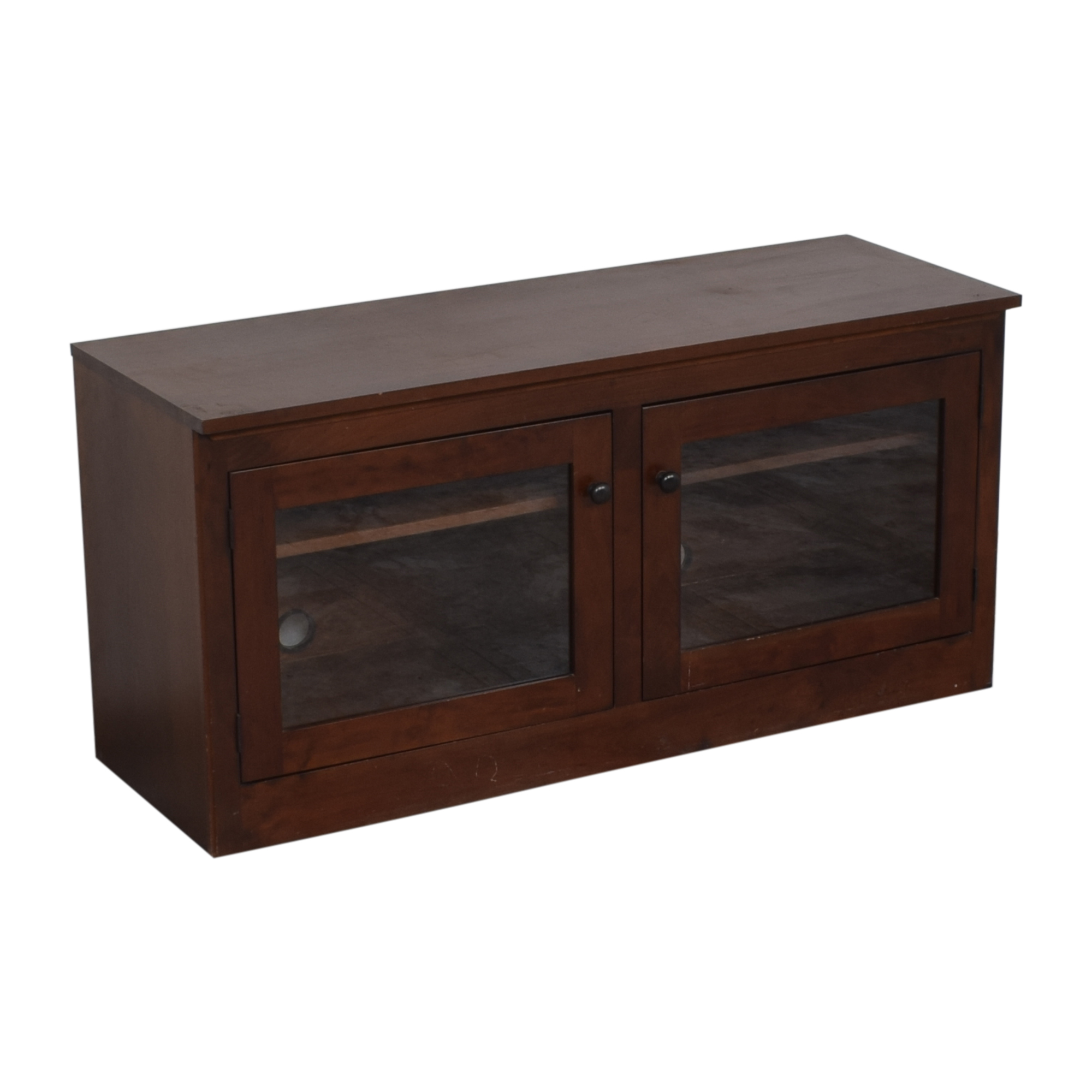 Media Console with Glass Doors second hand