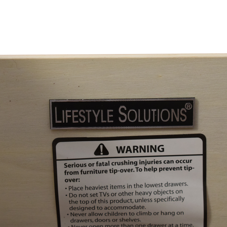 shop Lifestyle Solutions Modern 6 Drawer Dresser Lifestyle Solutions Dressers