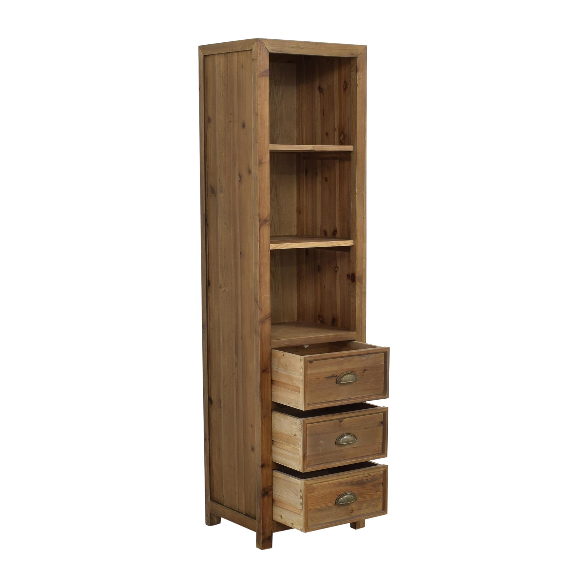 buy Stone & Beam Stone & Beam Bryson Tall Narrow 3-Drawer Bookcase online