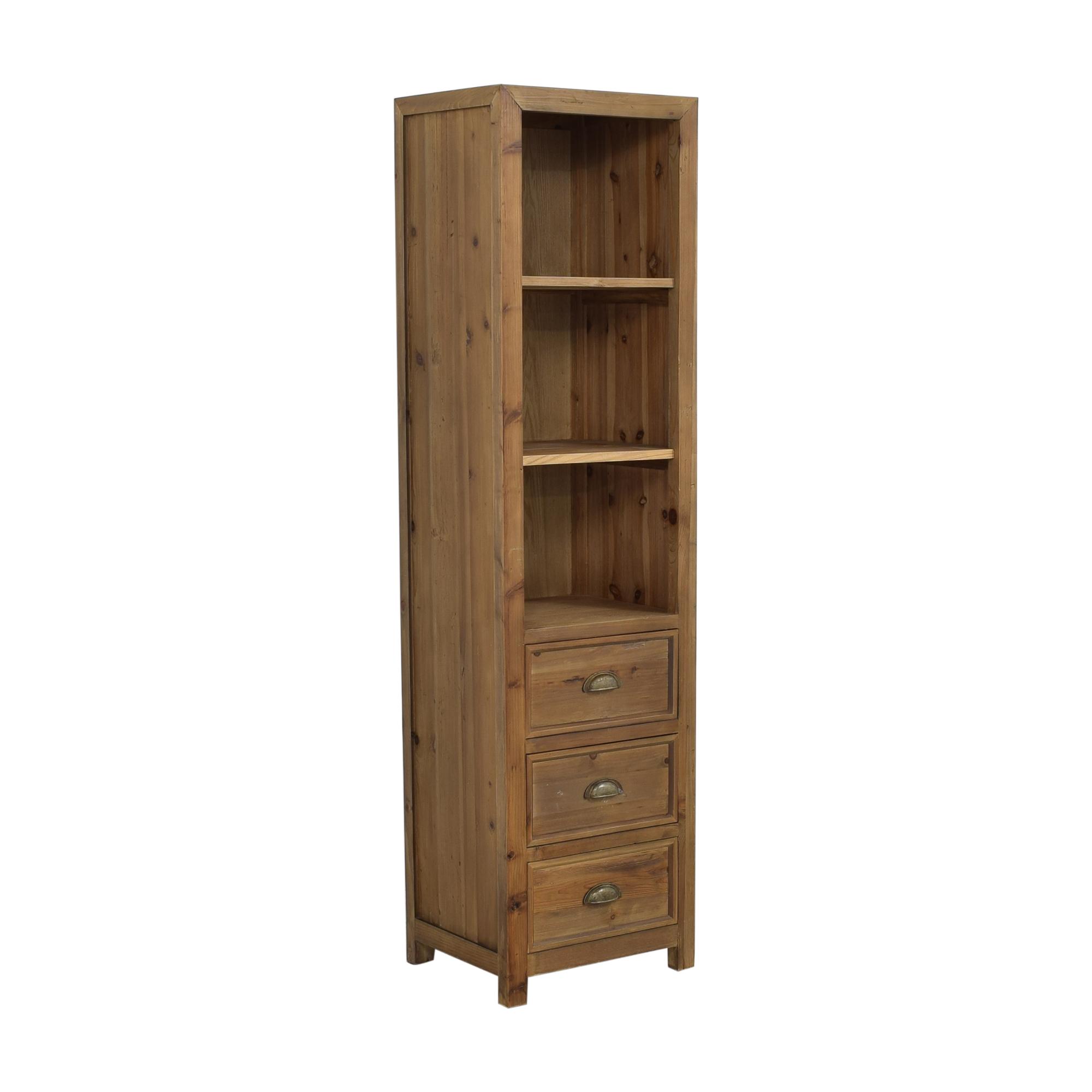 buy Stone & Beam Bryson Tall Narrow 3-Drawer Bookcase Stone & Beam