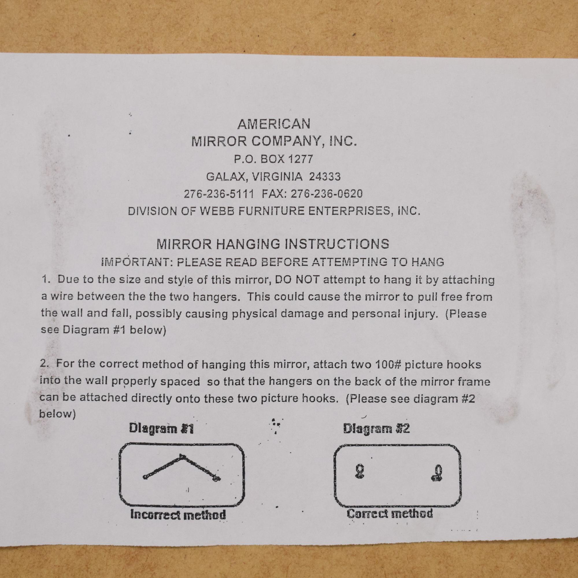 American Mirror Company American Mirror Company Wall Mirror coupon