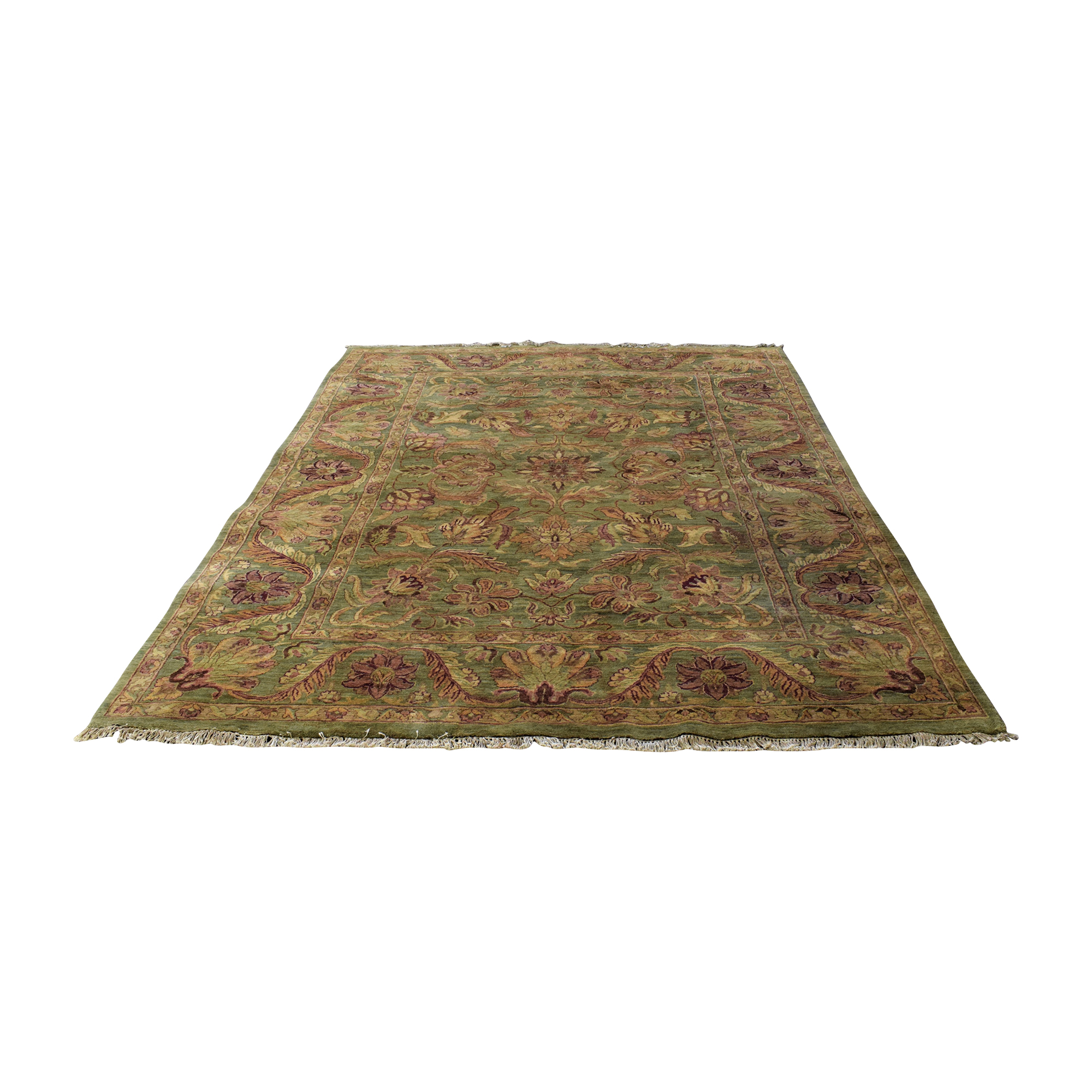 Large Area Rug with Tassels