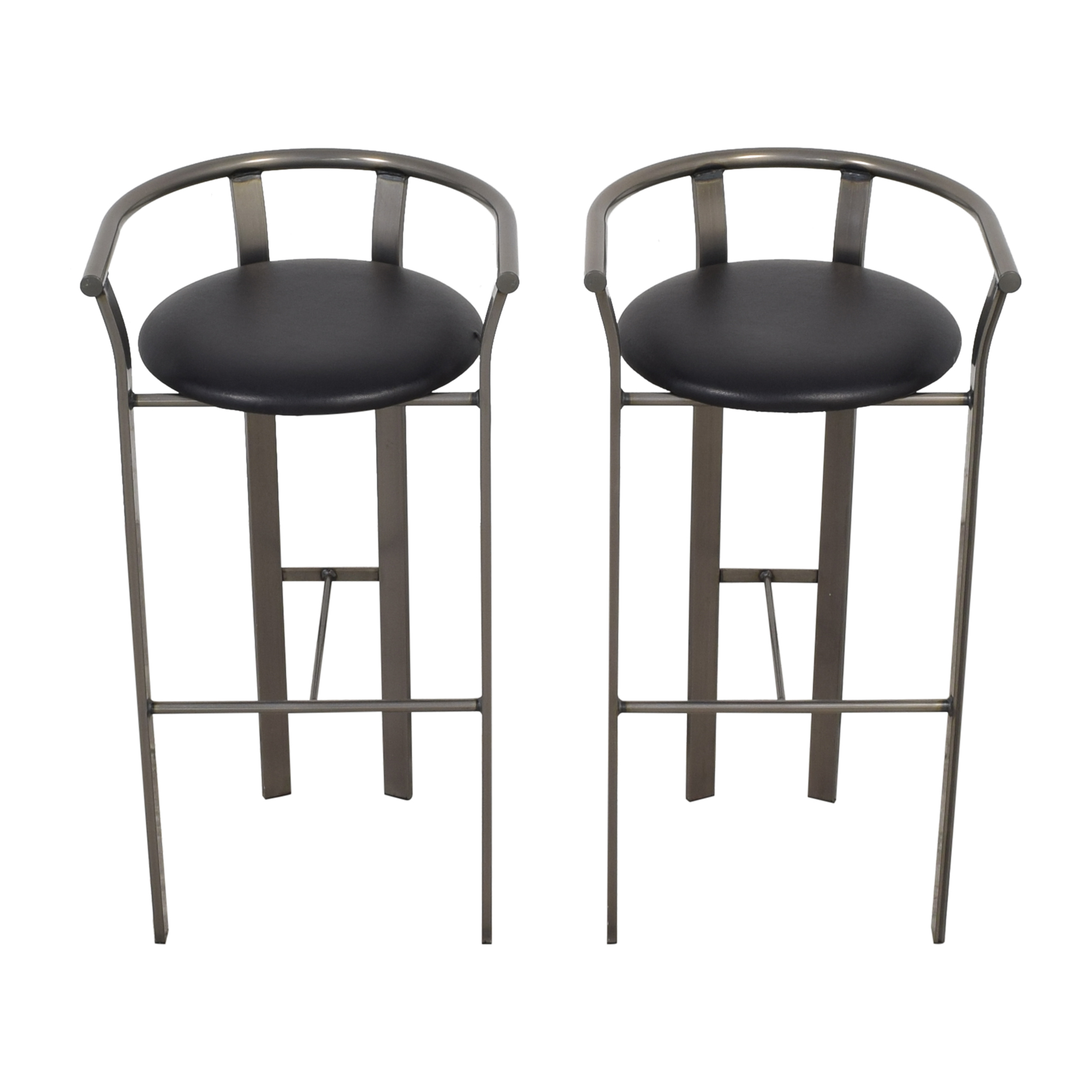 Amisco Amisco Retro Metal & Leather Bar Stools on sale